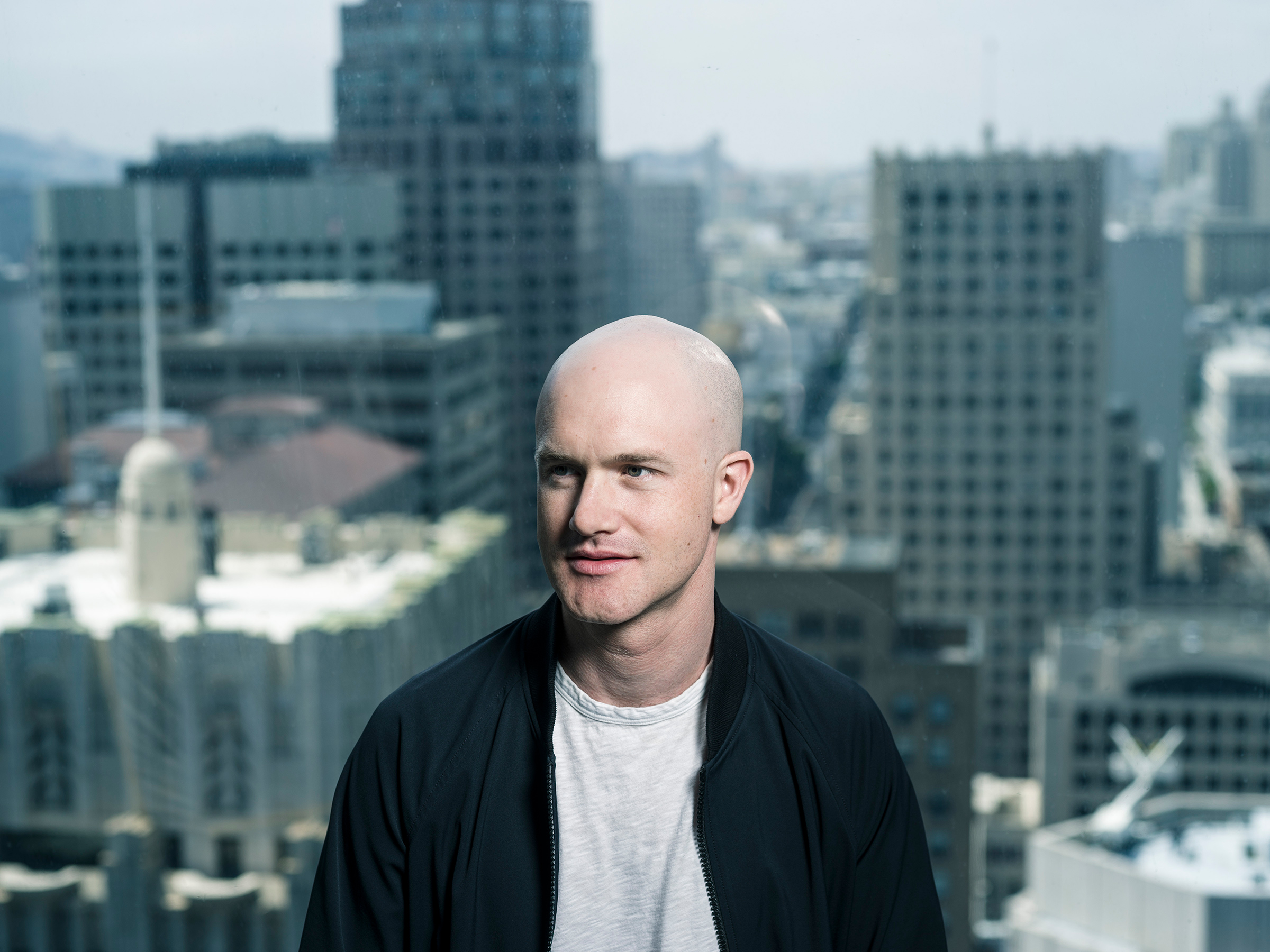 Brian Armstrong, CEO of Coinbase, at the company's main office in San Francisco on August 7, 2017.