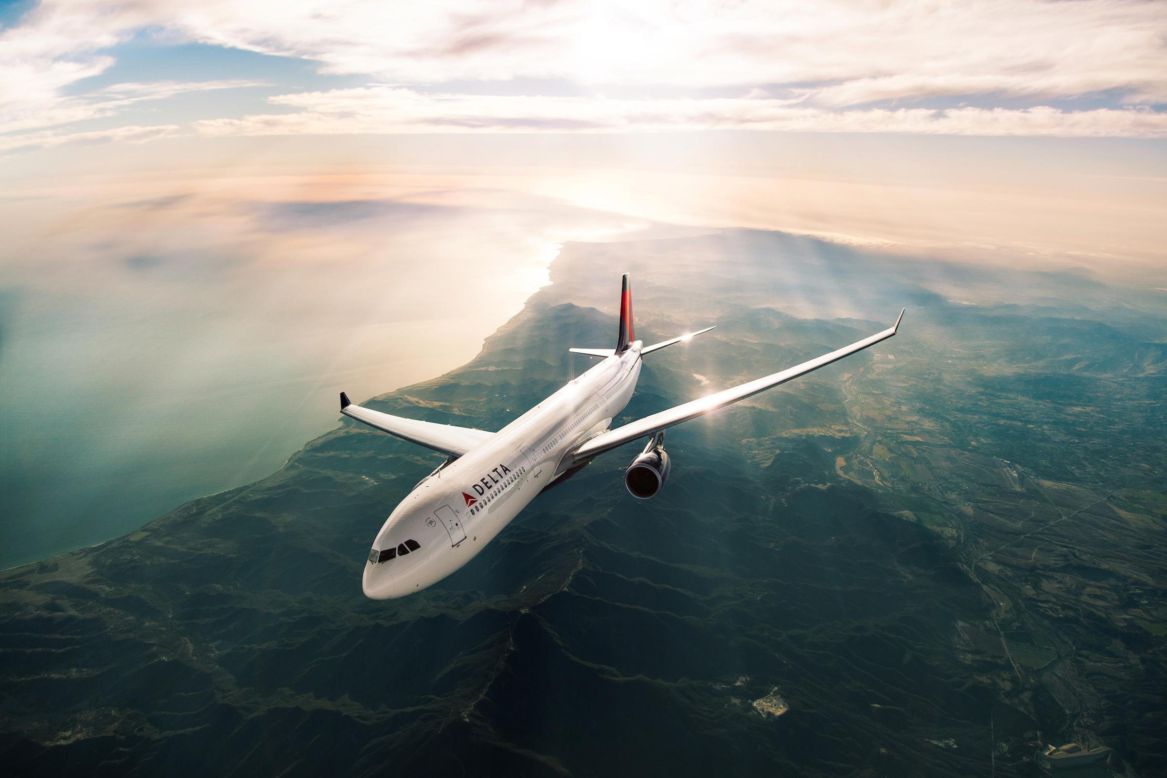 Delta's A330 in flight.