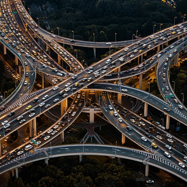 The Yan'an Elevated Road in Shanghai on Aug. 20, 2020.