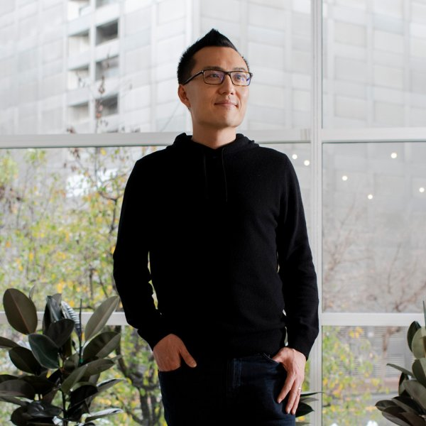 DoorDash CEO Tony Xu at the company's headquarters in San Francisco on Jan. 16, 2020.