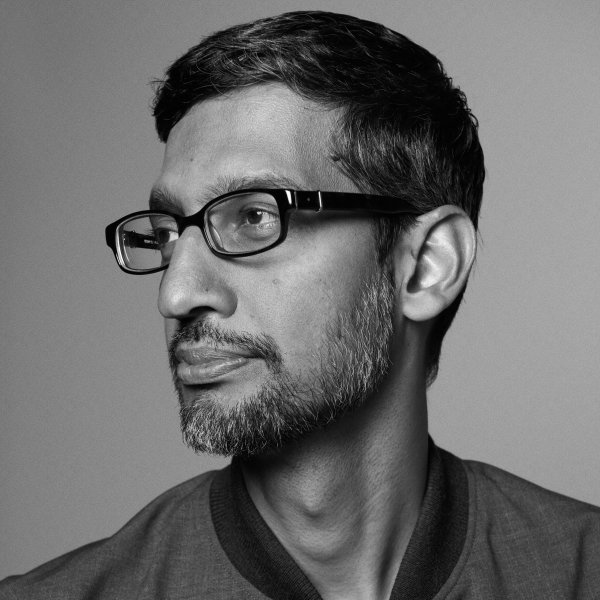 Sundar Pichai, CEO of Google, photographed at the Googleplex in Mountainview, Calif. on March 11, 2020.