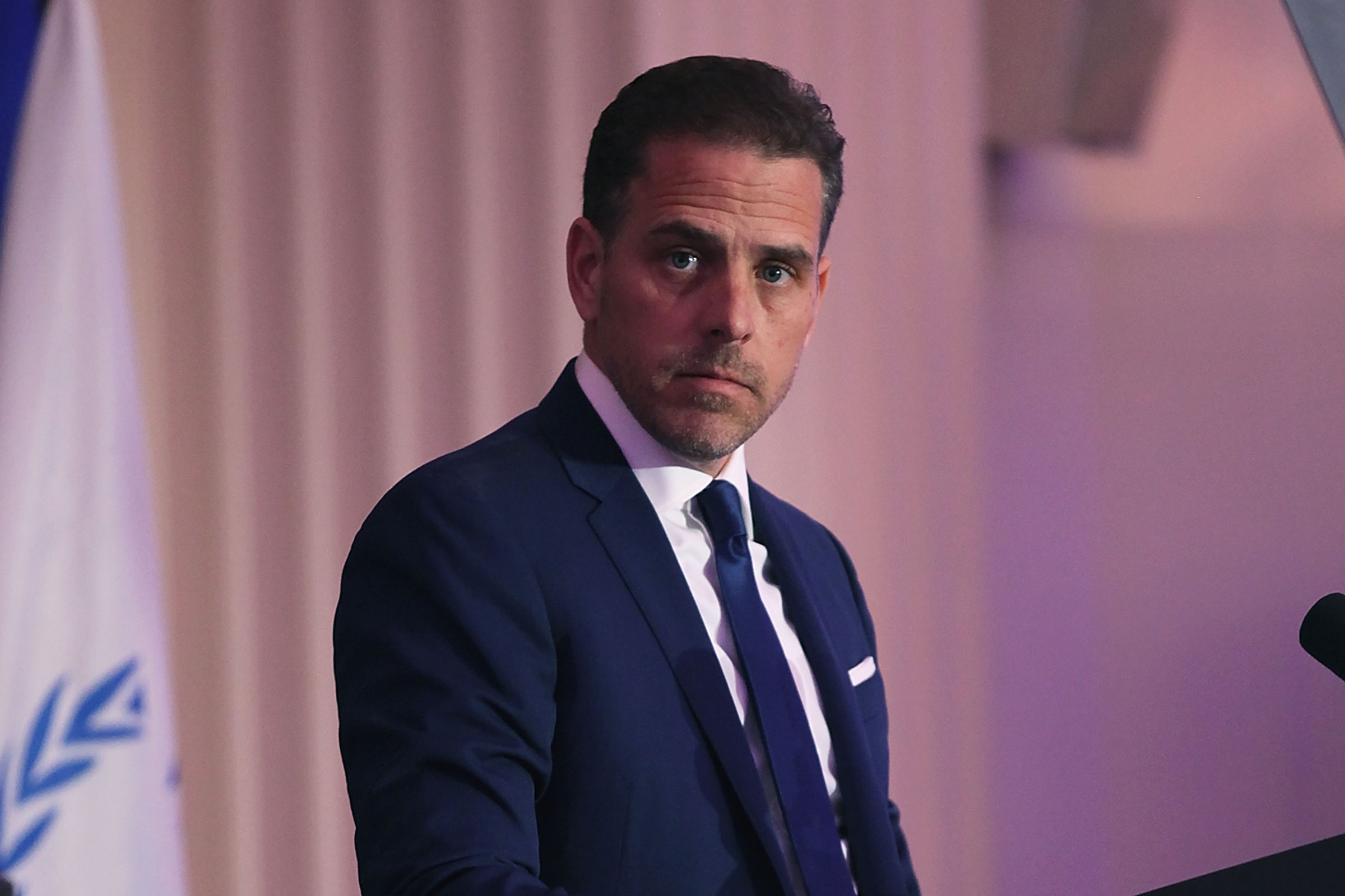 Hunter Biden speaks on stage at the World Food Program USA's Annual McGovern-Dole Leadership Award Ceremony on April 12, 2016 in Washington, DC.