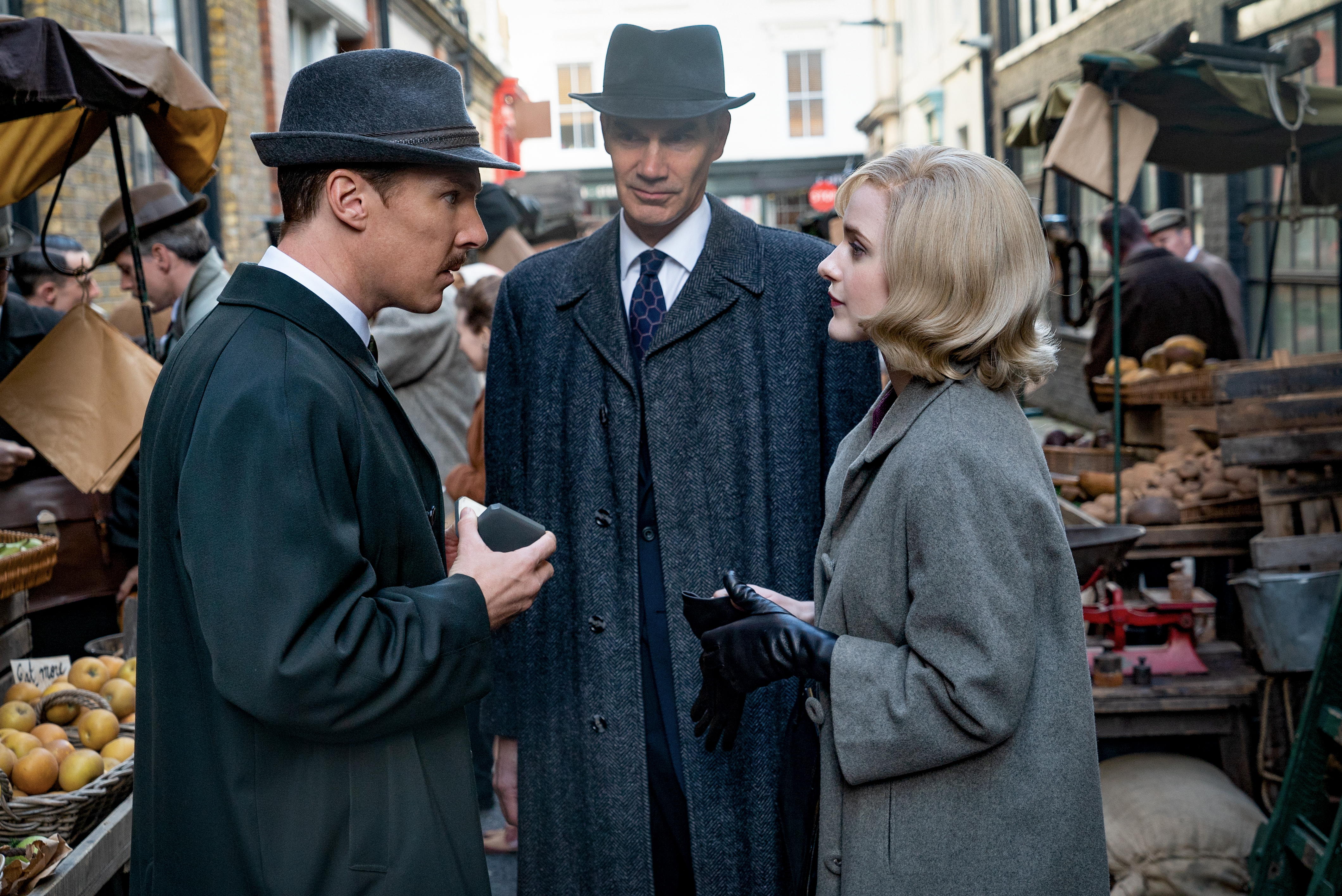 Benedict Cumberbatch, Angus Wright and Rachel Brosnahan in 'The Courier'