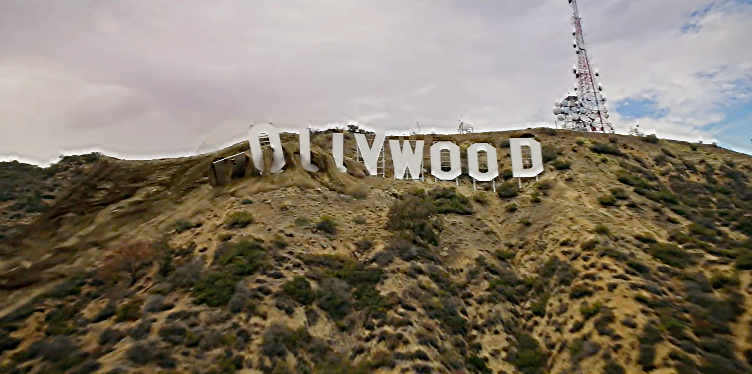 The iconic Hollywood sign crumbles in the Jan. 18, 2021, season premiere episode of 9-1-1.