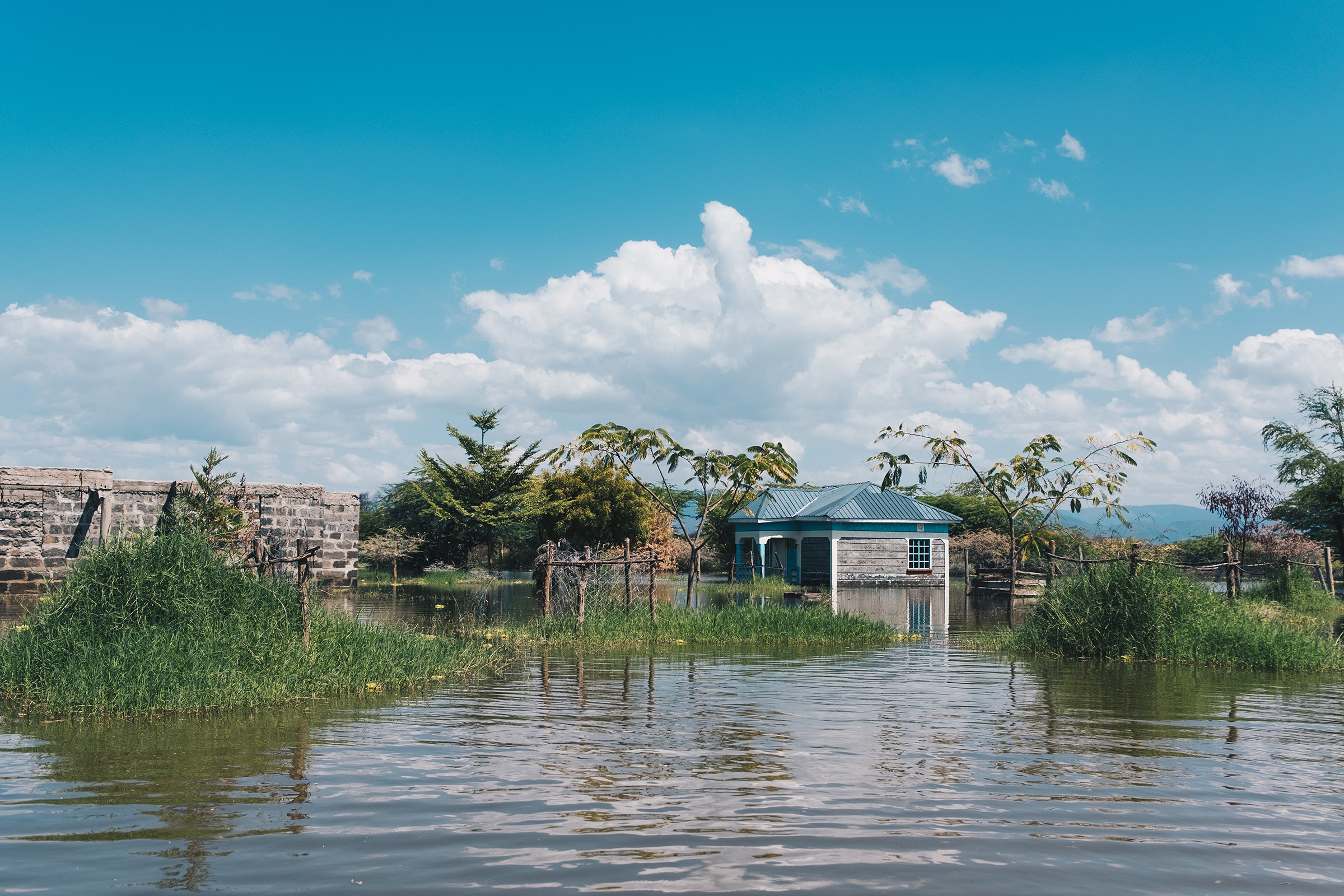 When Lake Baringo rose, families in the area lost their homes and grazing fields.