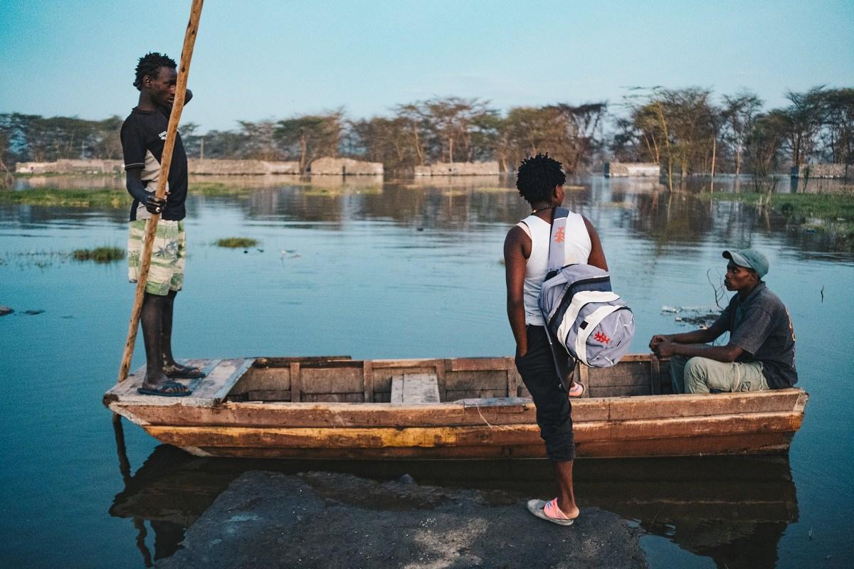 "Sarah ""Pirate"" Mwaniki and her fishing crew make a plan for the night."