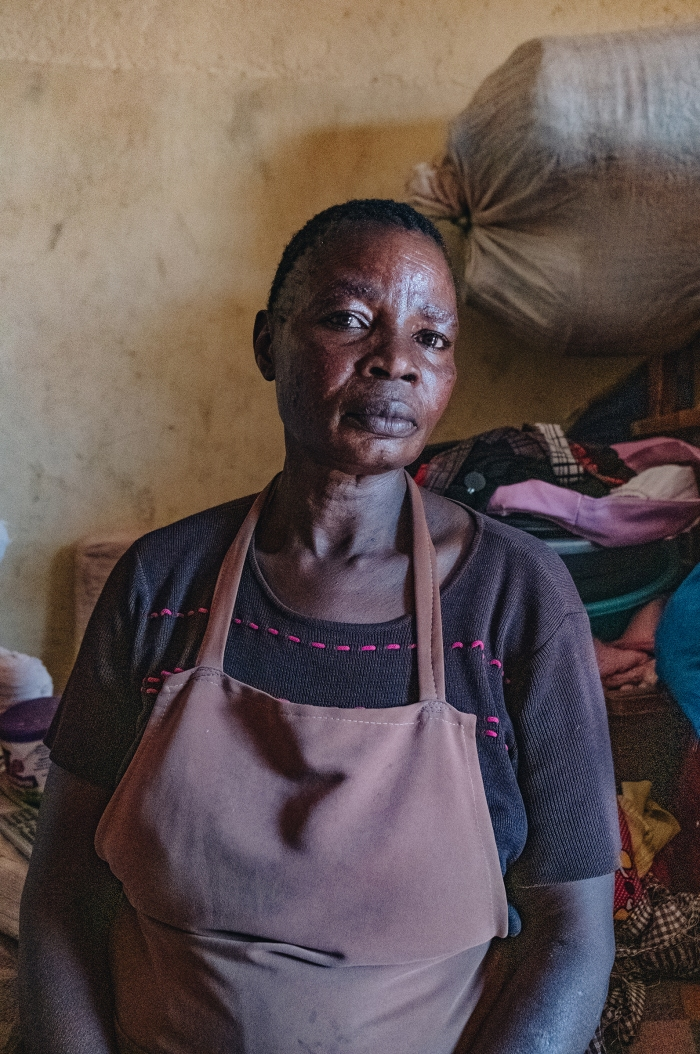 Evelyn Ajuang, 41, wasforced to move when Lake Nakuru's rising waters flooded her home.