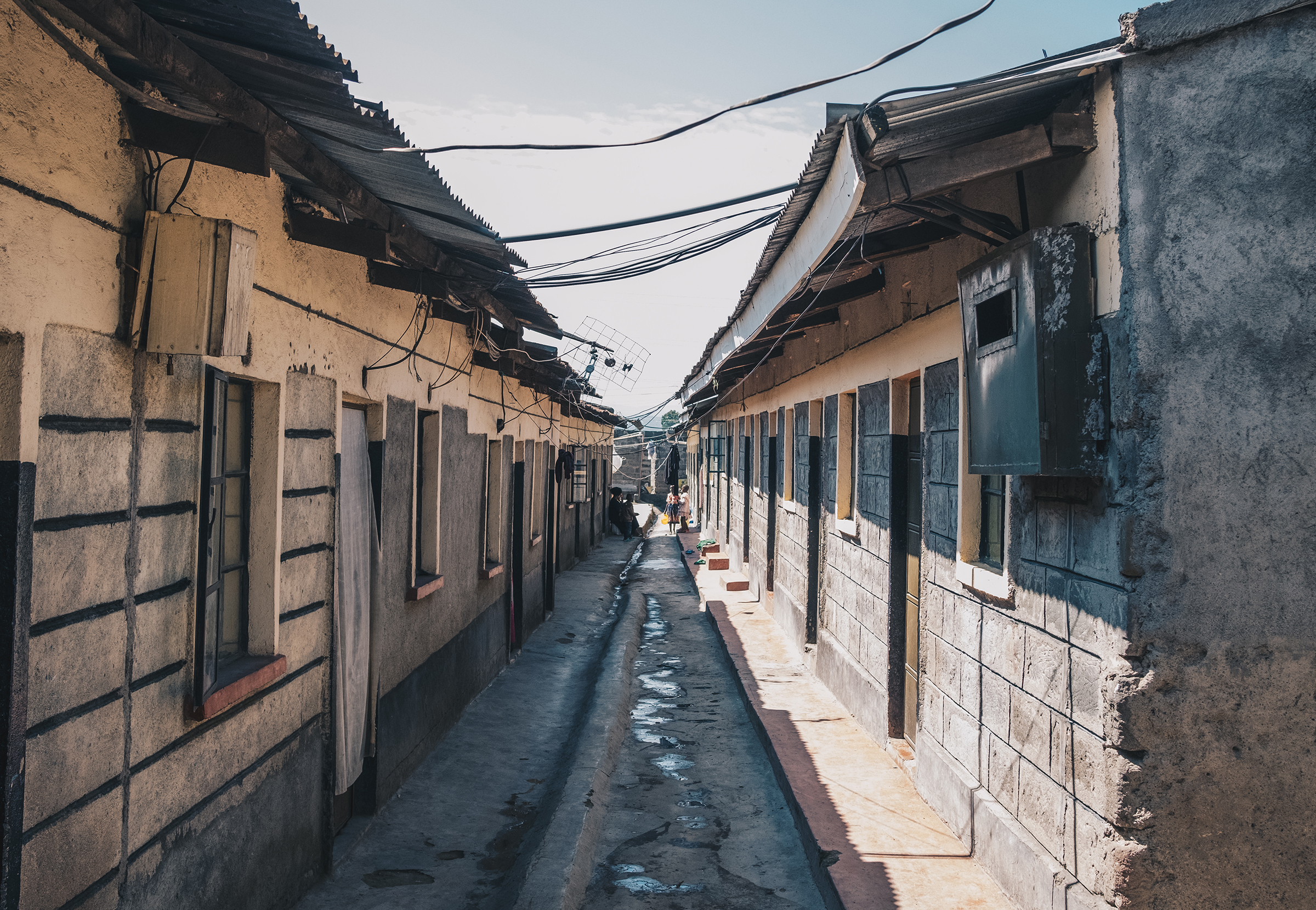 Low-income housing in Langa Langa, Nakuru, where Ajuang was forced to relocate because of rising water levels.