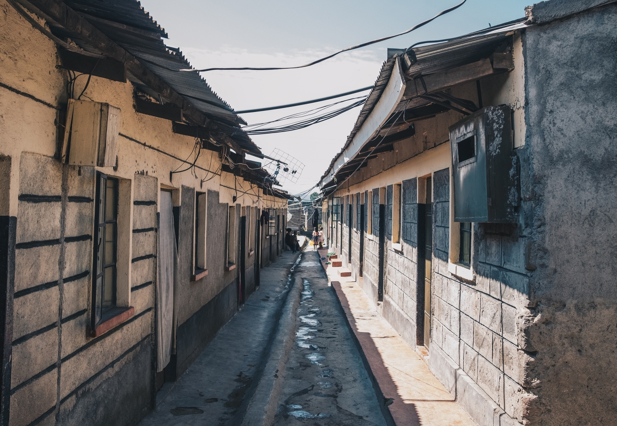 Low-income housing inLanga Langa, Nakuru, where Ajuang was forced to relocate because of rising water levels.