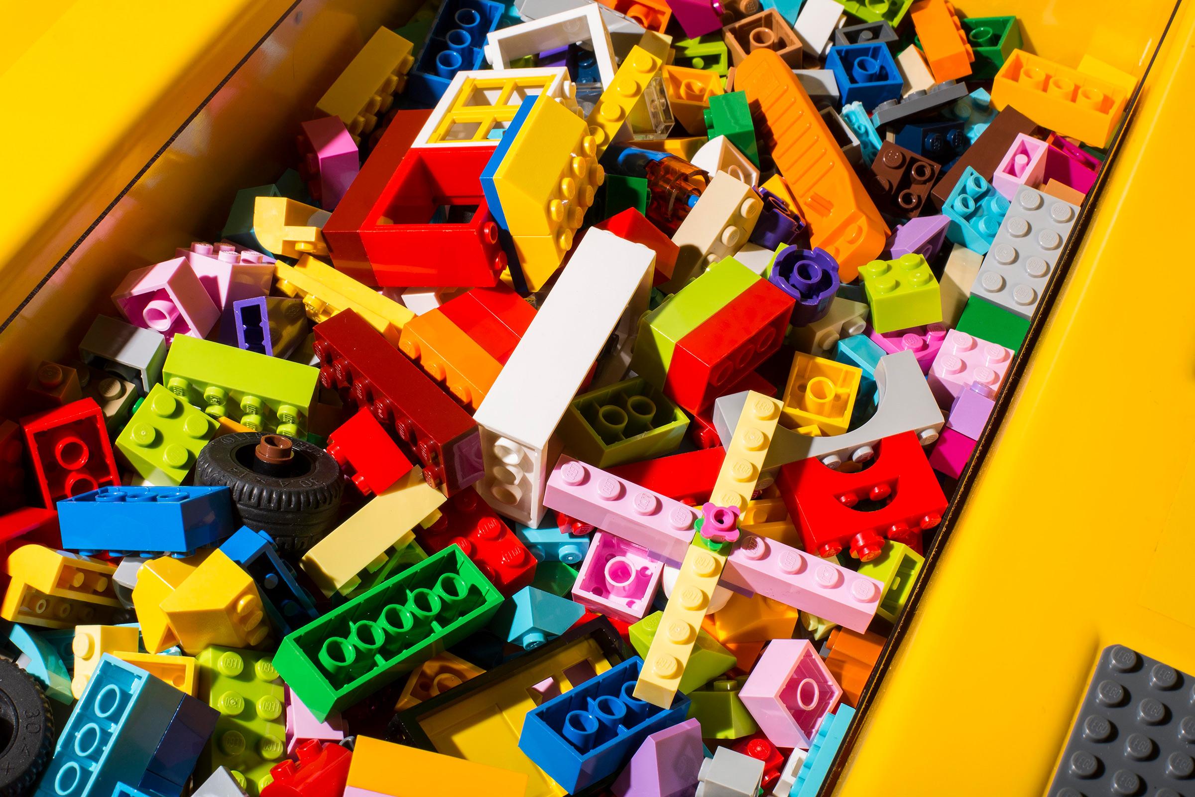 Legos on display at a store in Rockaway, N.J. on Oct. 1, 2018.