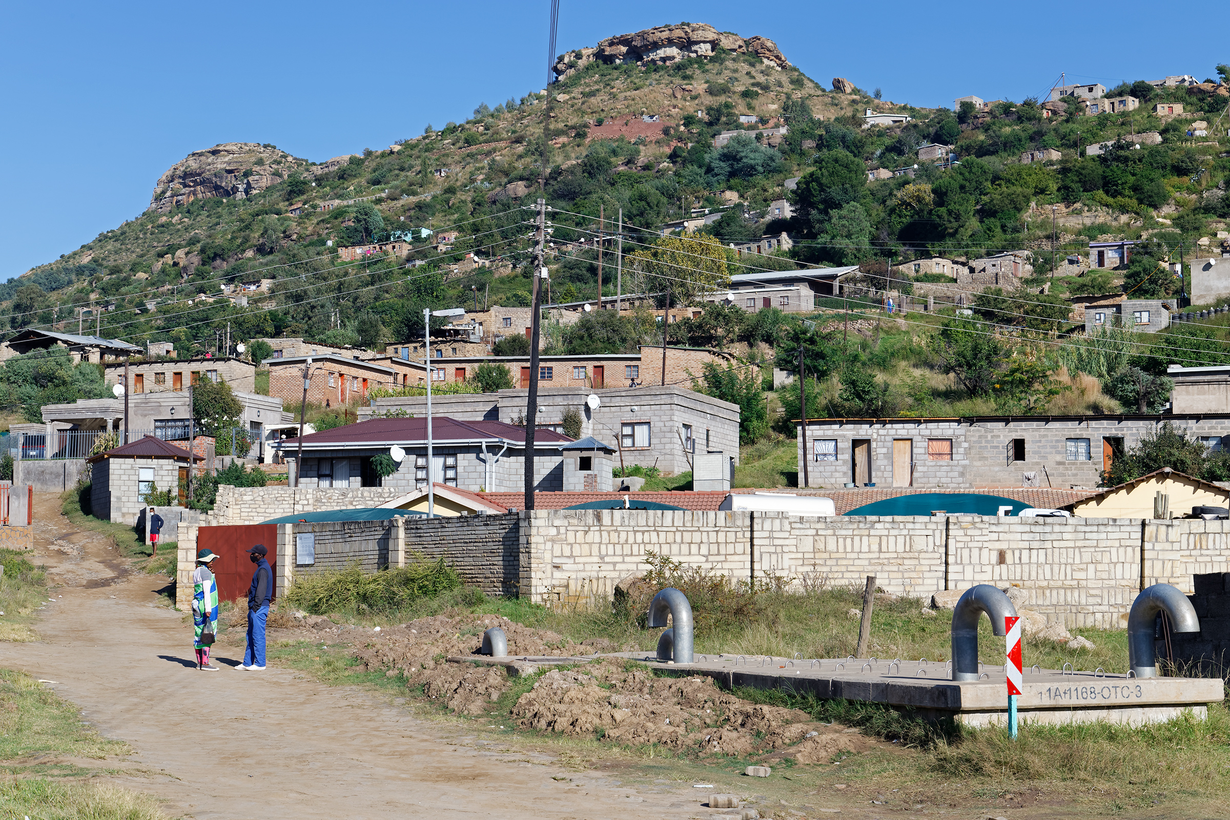 A scene from Thabong, one of the villages in Maseru, Lesotho's capital, where many factory workers live.