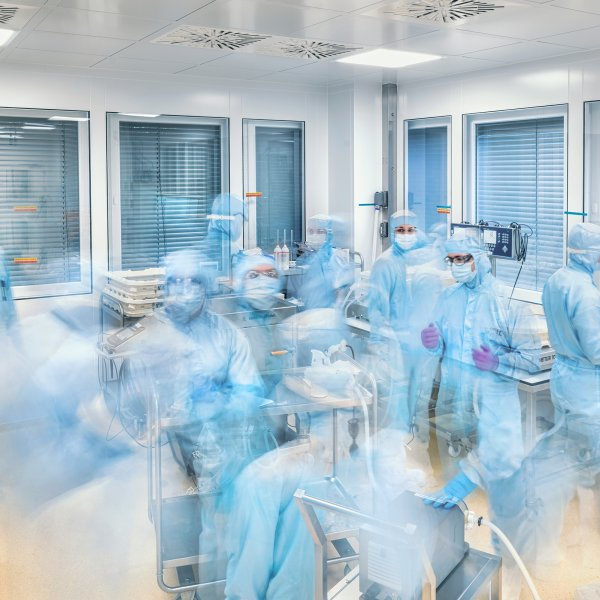 This 11-min. time-lapse shows the final step of production: technicians at BioNTech's Marburg complex filter the vaccine before pumping it into bulk packages ready for shipping to a filling and labeling facility elsewhere in Germany.