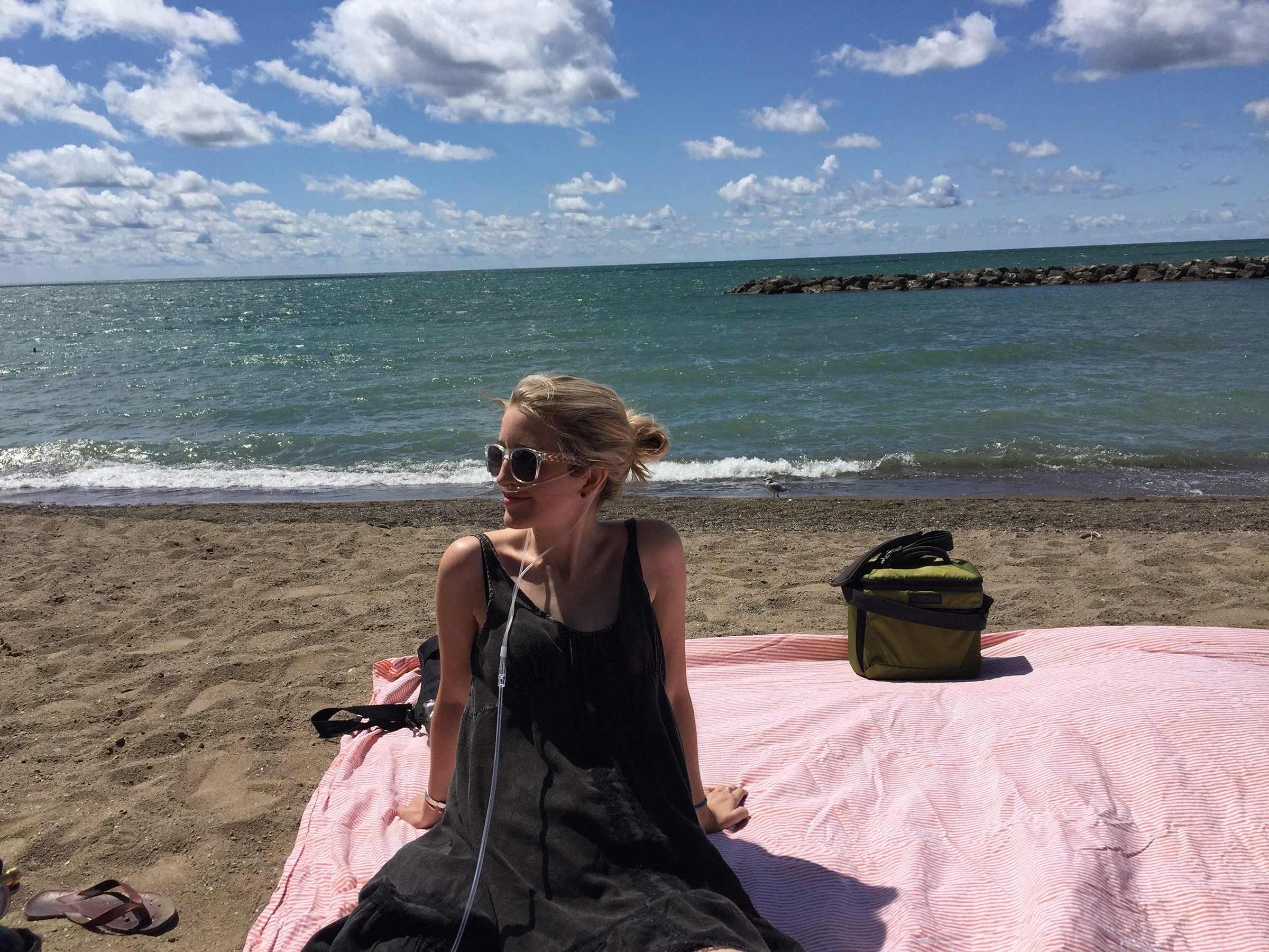 The author's daughter, Caitlin, on the beach.