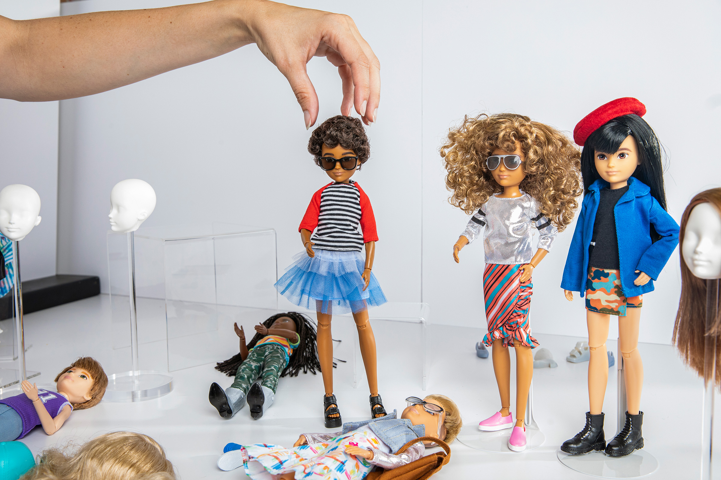 Mattel's Creatable World doll at Mattel's headquarters on September 5, 2019.