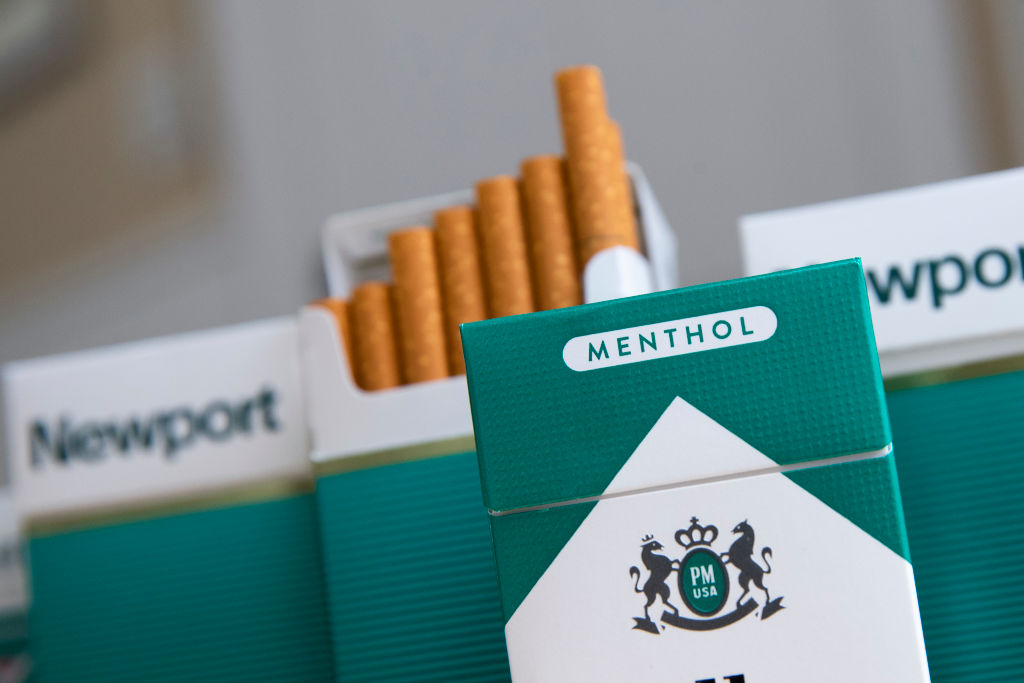 Packs of menthol cigarettes sits on a table on Nov. 15, 2018 in New York City.