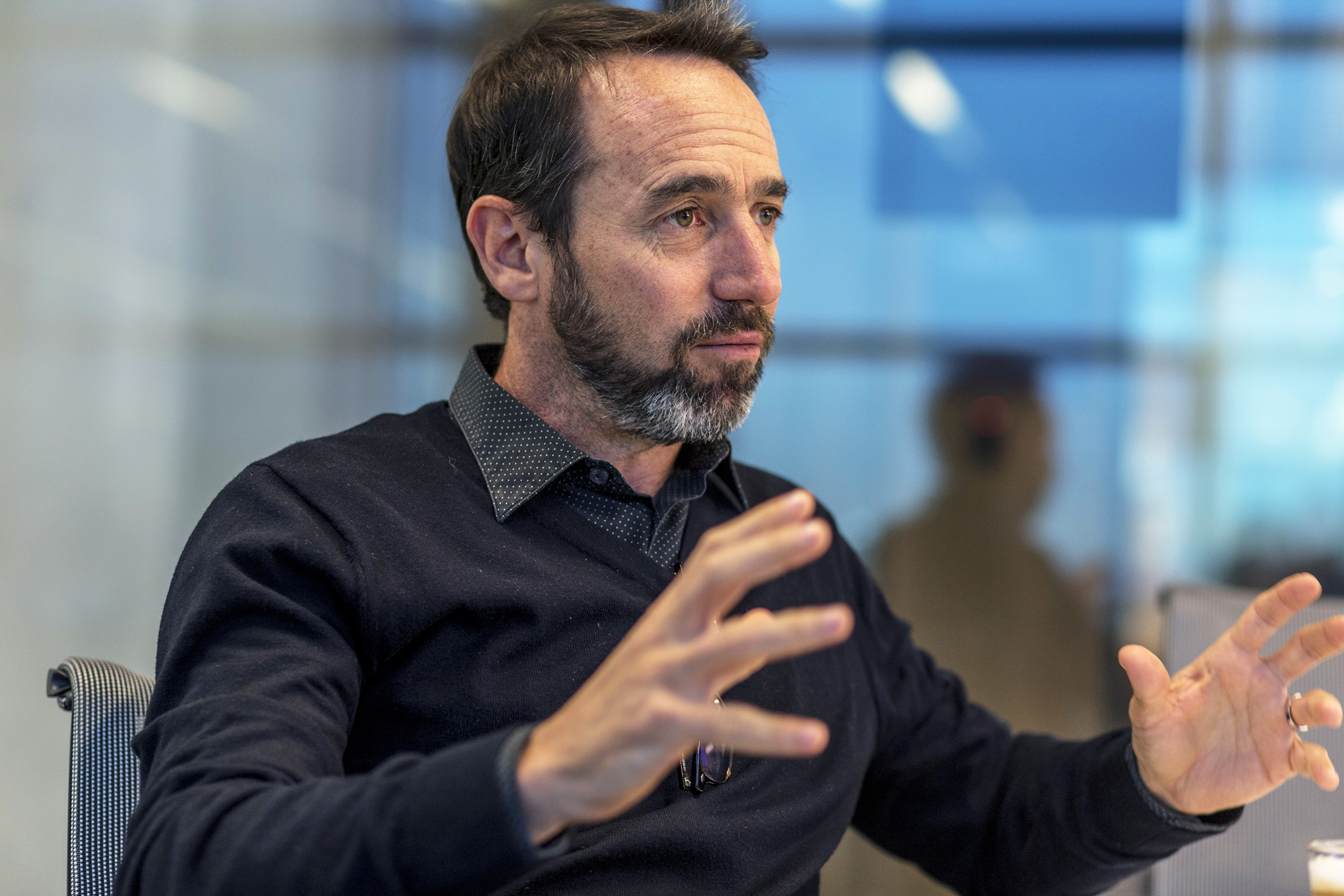 Marcos Galperin, co-founder and CEO of Mercado Libre, talks during an interview in Buenos Aires, Argentina on Aug. 8, 2019.