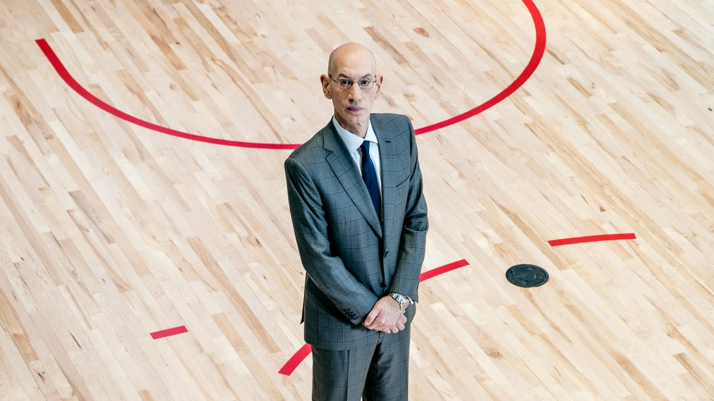 Adam Silver photographed at the NBA office in Manhattan on March 22, 2021.
