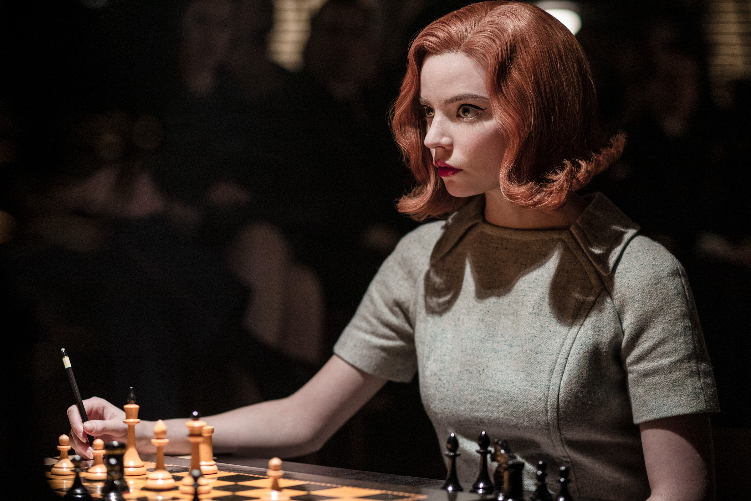 A still from  The Queen's Gambit,  which debuted on Netflix in 2020.