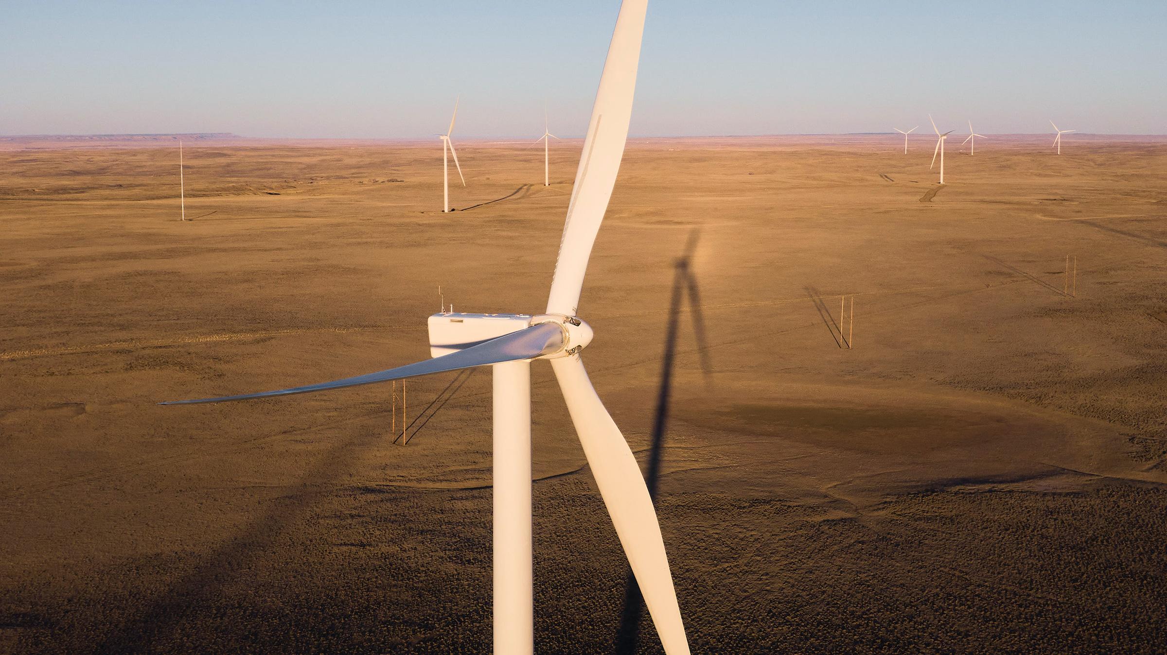 NextEra Energy's Cedar Springs Wind Energy Center in Douglas, Wyoming on Nov. 29, 2020.