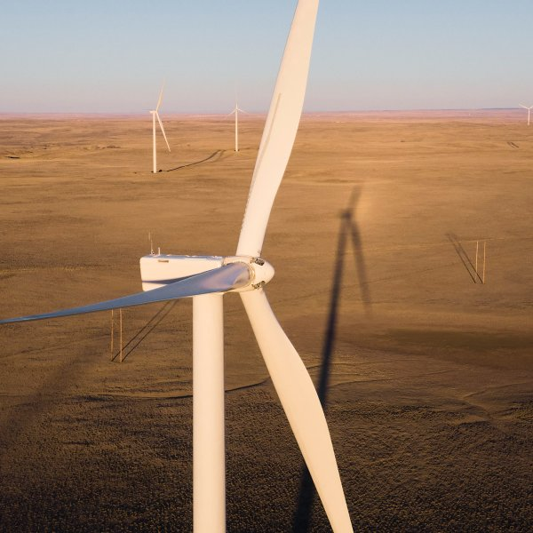 NextEra Energy's Cedar Springs Wind Energy Center in Douglas, Wyoming on Nov. 29, 2020.