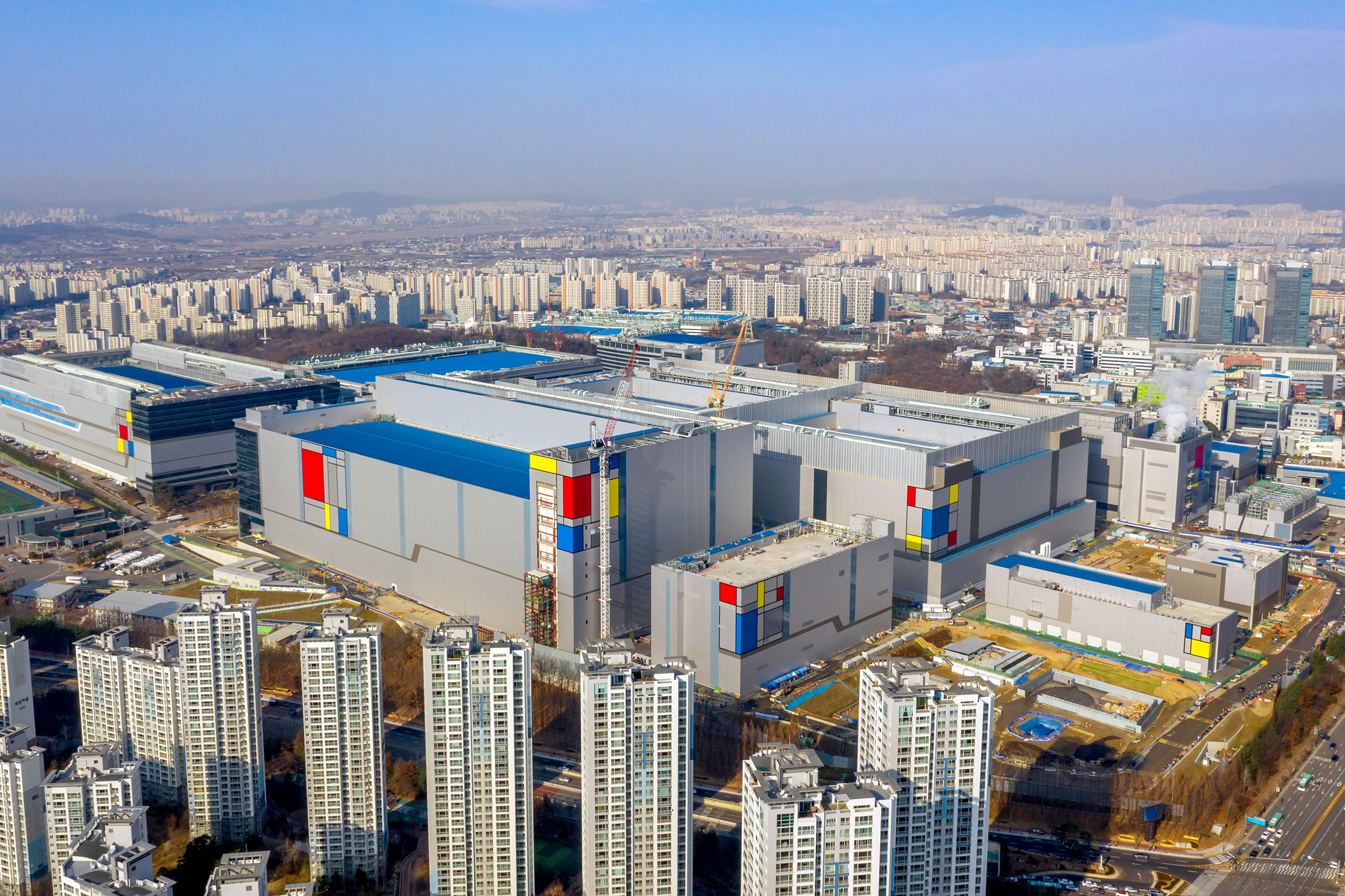 The Samsung Electronics Co. semiconductor manufacturing plant in Gyeonggi Province, South Korea on Dec. 16, 2019.