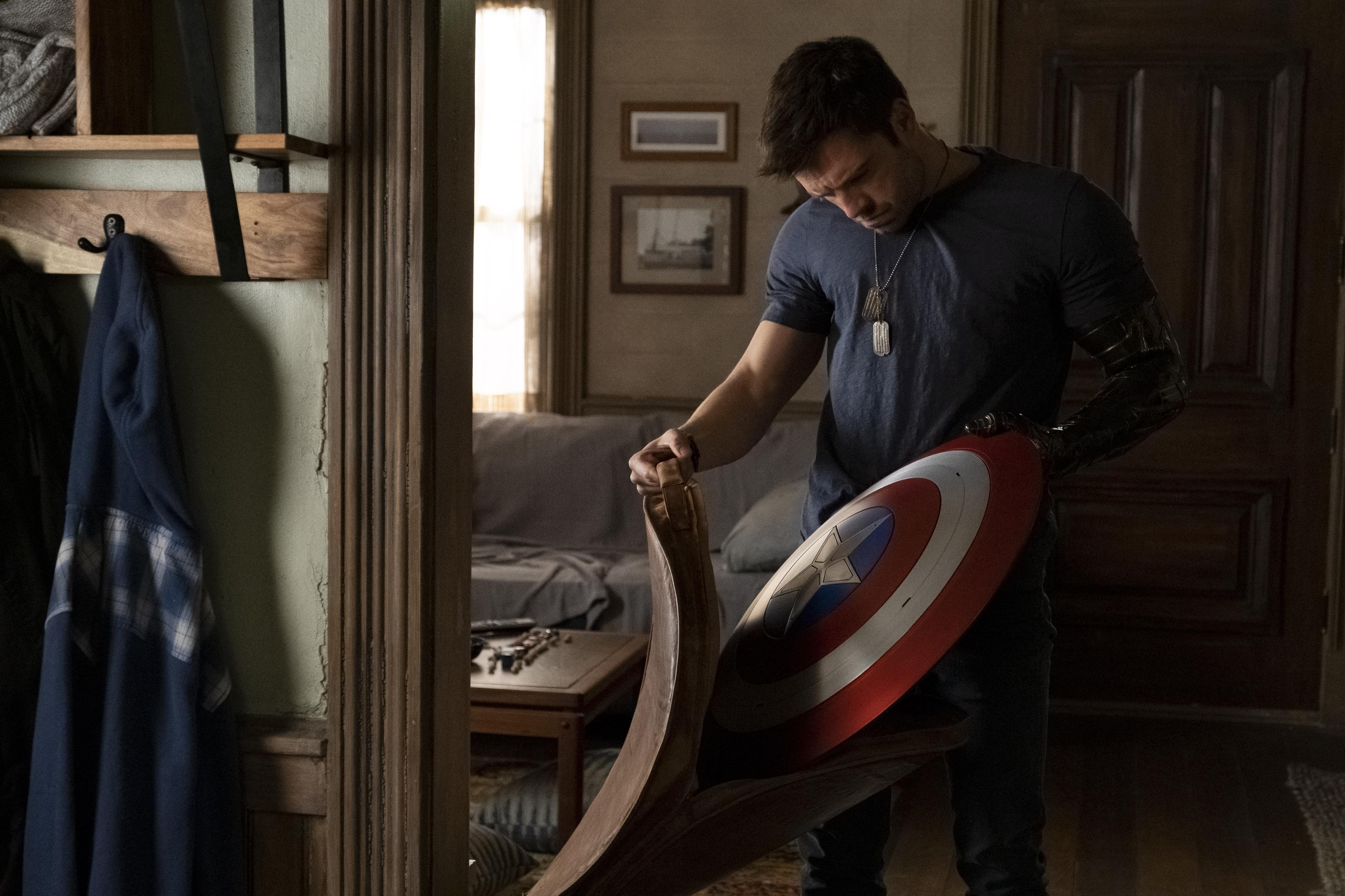 Sebastian Stan in Falcon and the Winter Soldier