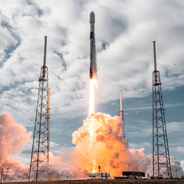 Falcon 9 launched Transporter-1 at Cape Canaveral Space Force Station in Florida on Jan. 24, 2021.