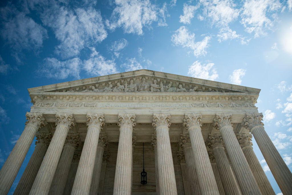 The U.S. Supreme Court stands on Sept. 28, 2020, in Washington, D.C.