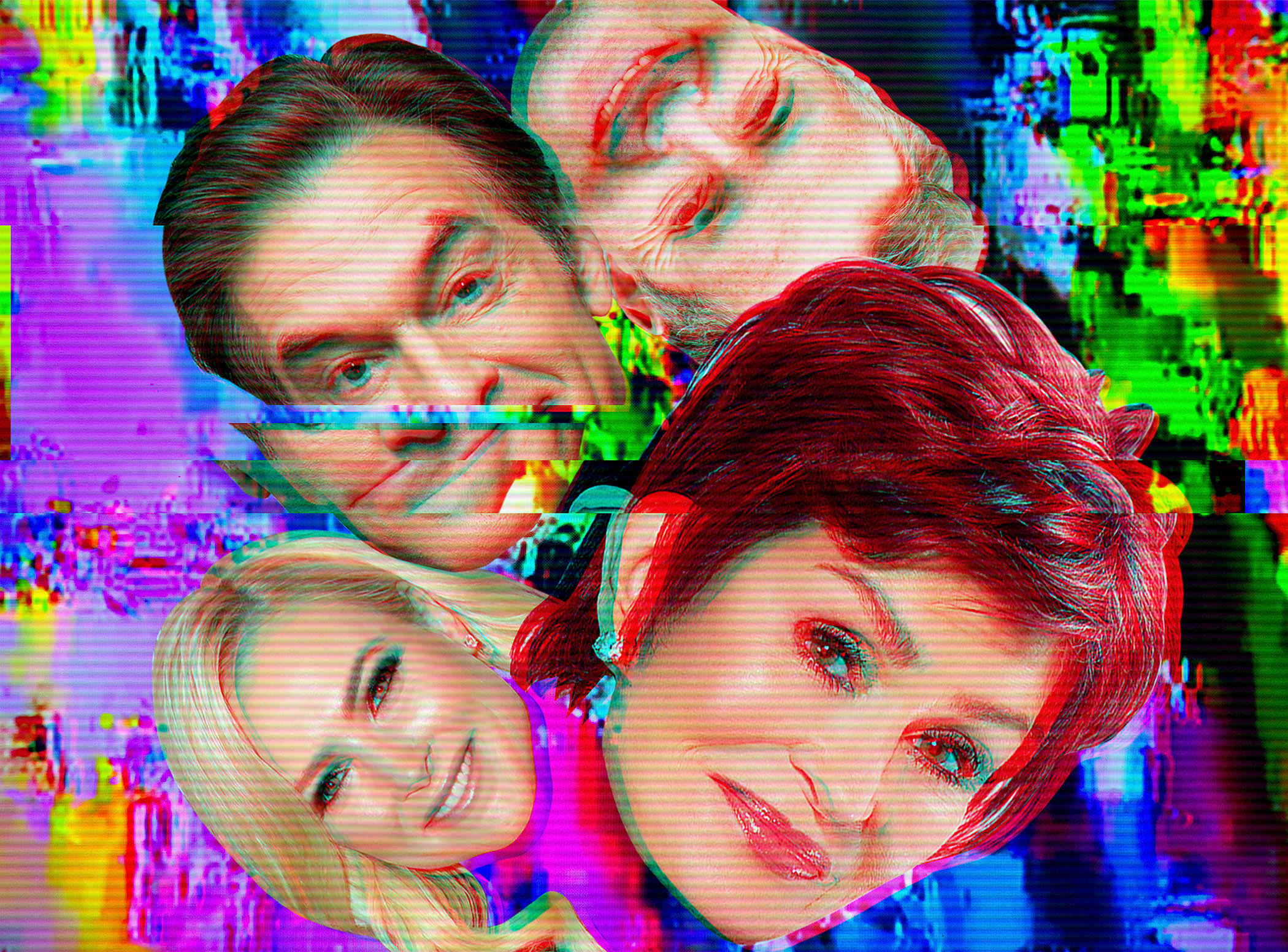 Clockwise from left: Dr. Oz, Piers Morgan, Sharon Osbourne and Meghan McCain