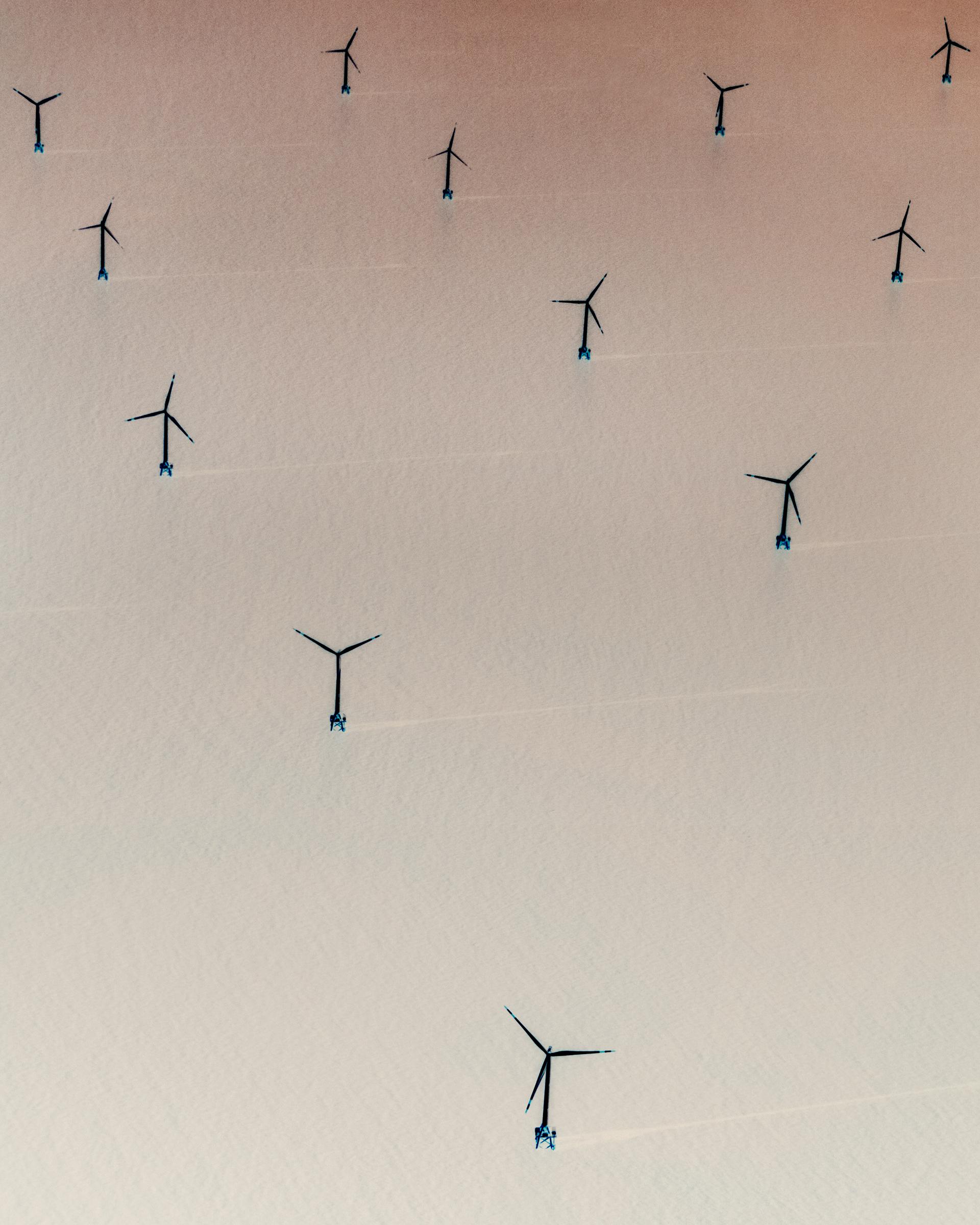 An offshore wind farm near Shanghai.