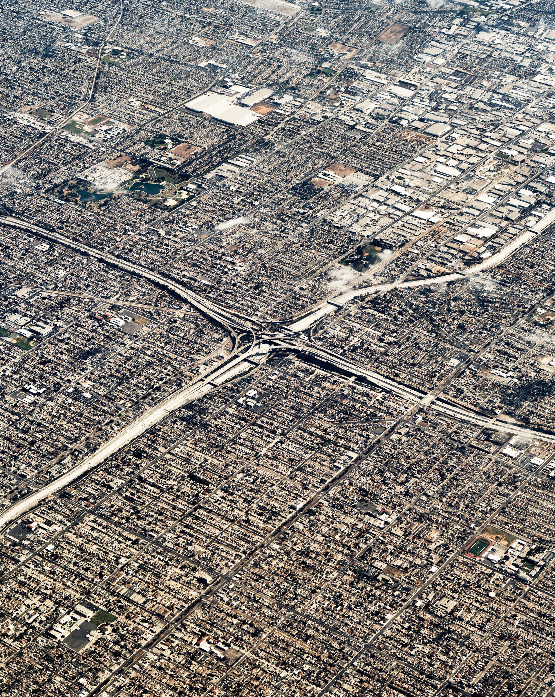 Urban sprawl in Los Angeles.