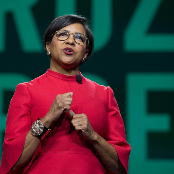 Rosalind Brewer, CEO of Walgreens, speaks in Seattle, Washington on Mar. 20, 2019.