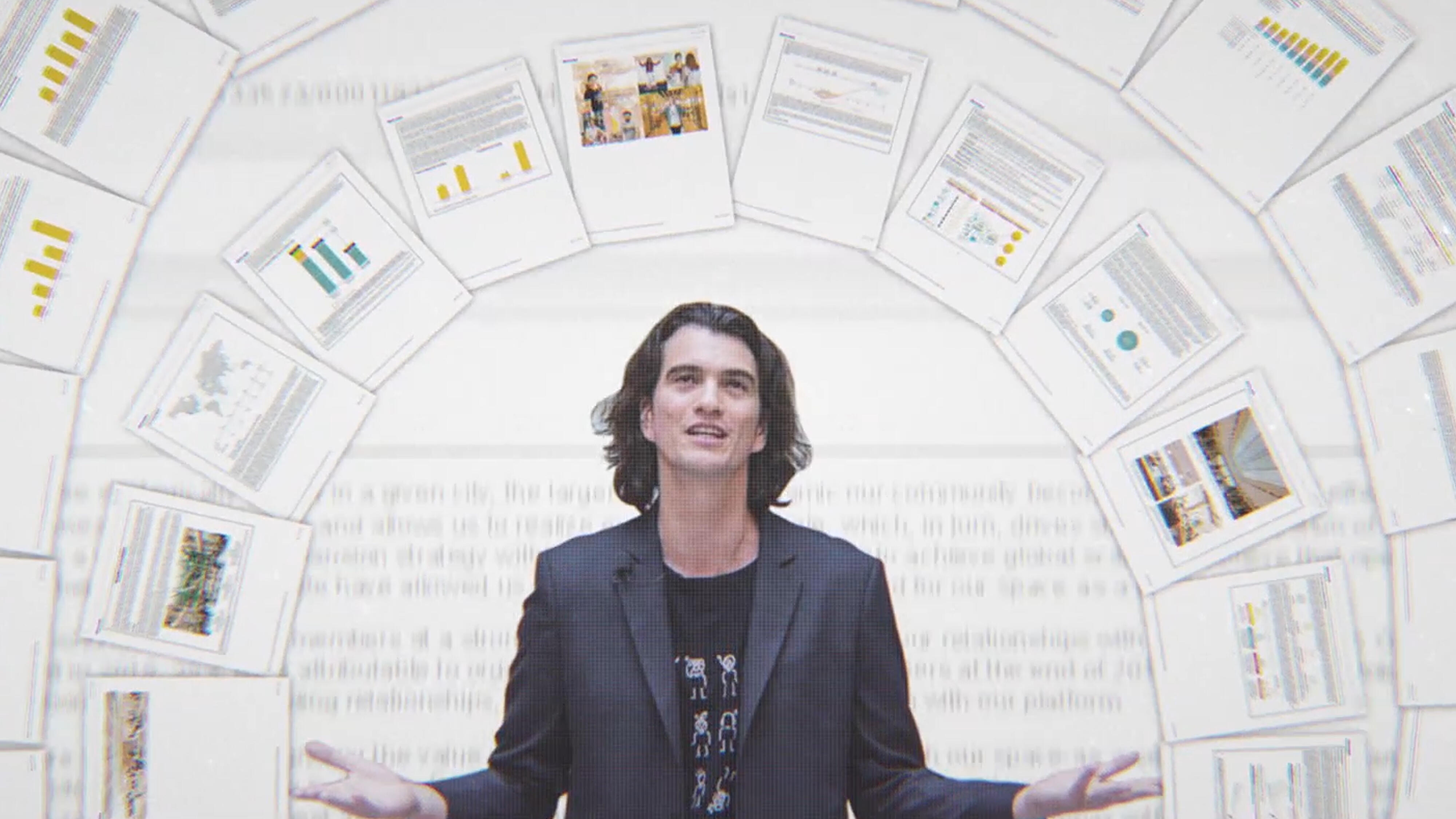 Adam Neumann in a still from 'WeWork'