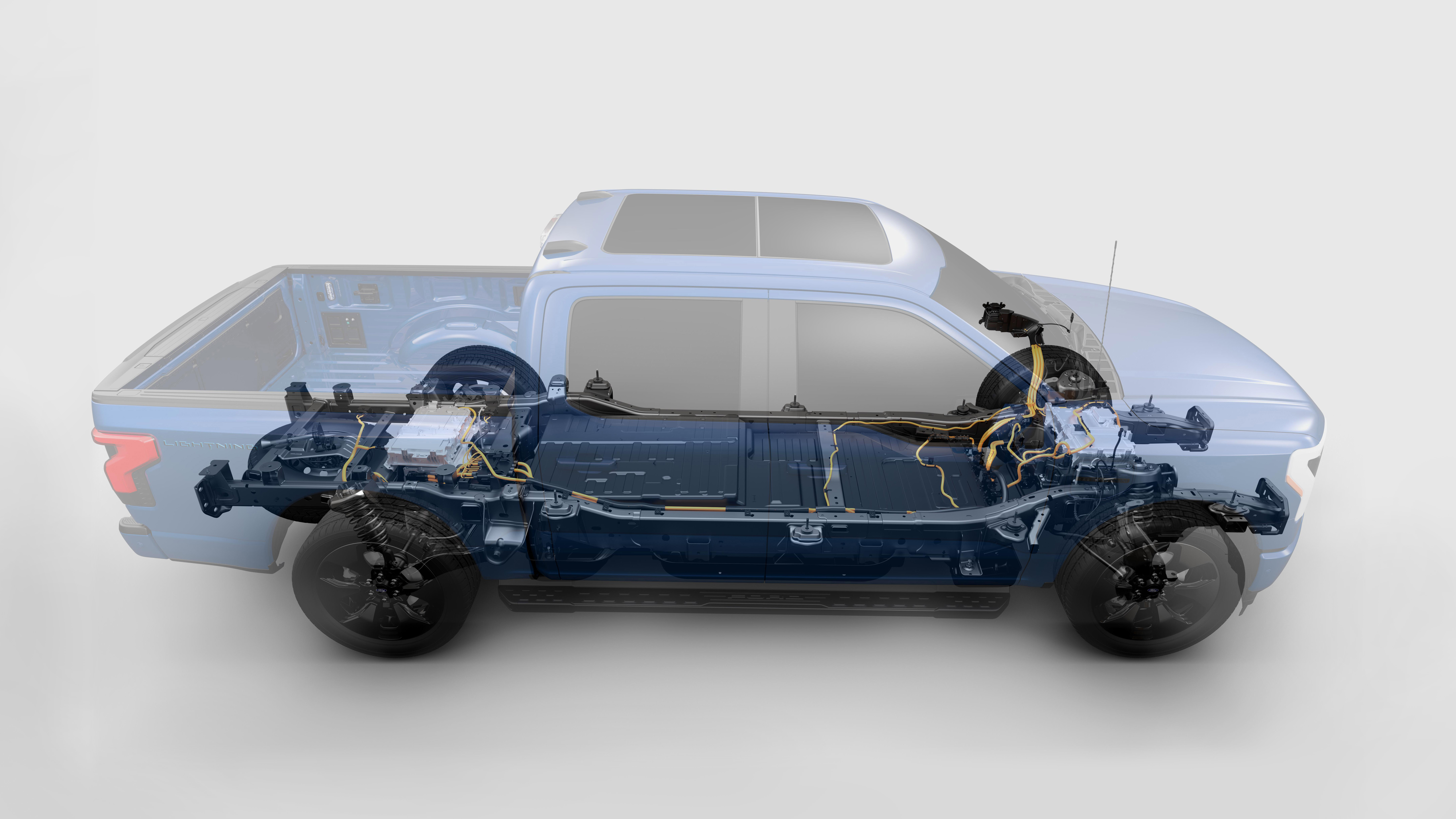 The standard battery on the F-150 Lightning has 230 miles of range. The extended version brings that up to 300 miles