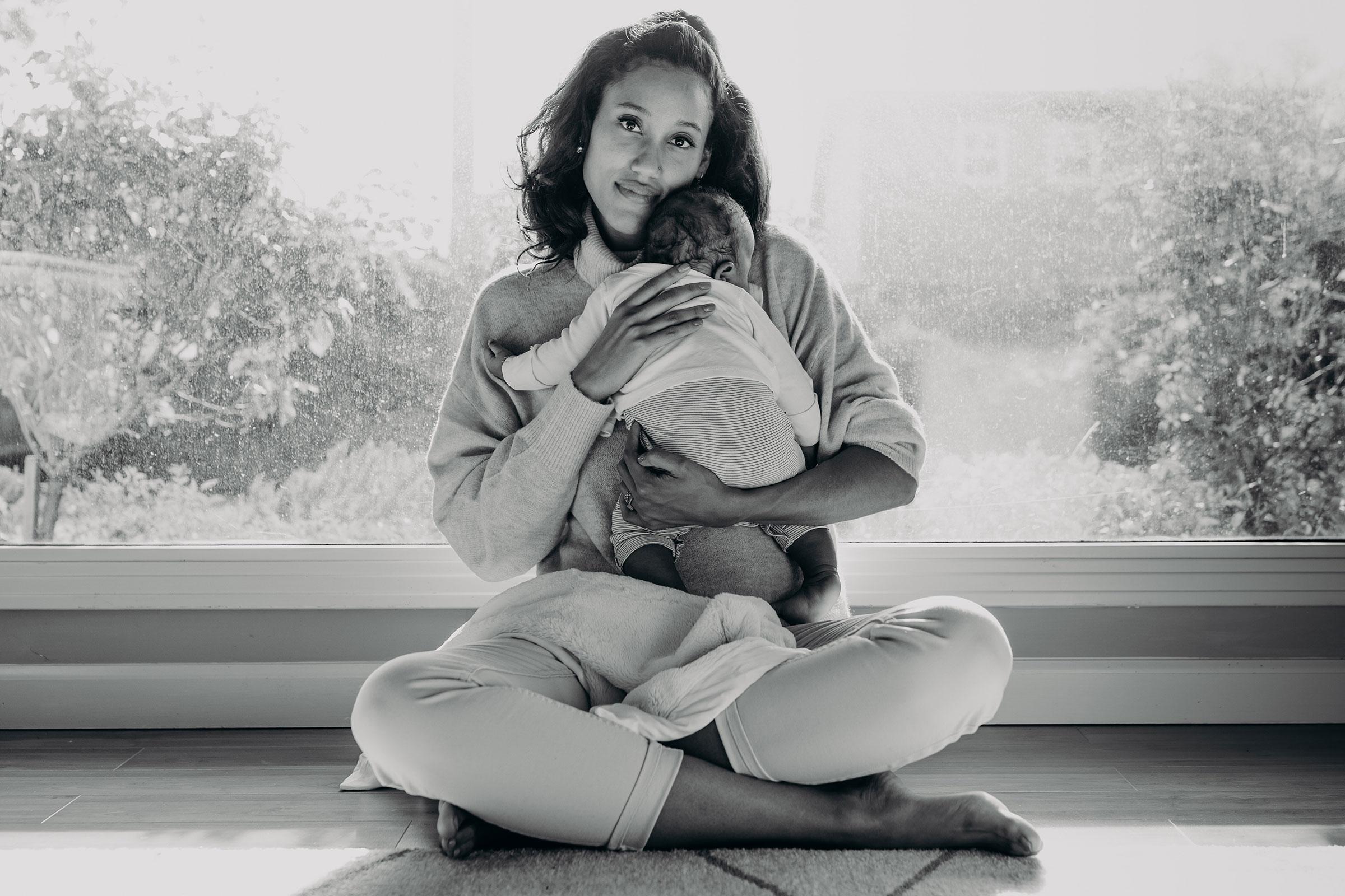 Anna Malaika Tubbs and her son.