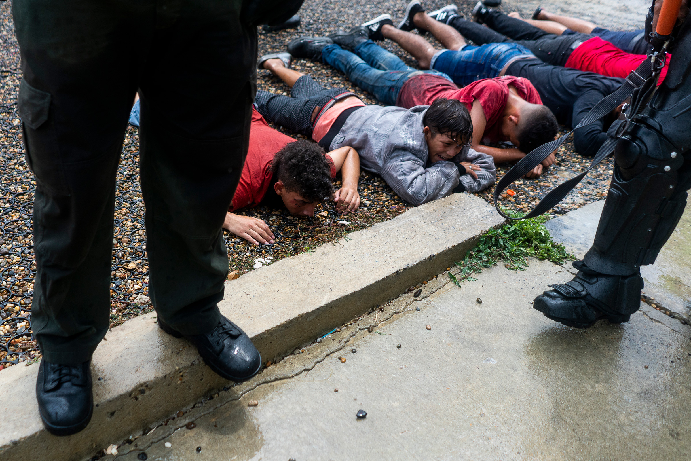 At the end of a demonstration, police make arrests, including some underage boys, in Barranquilla on May 3.
