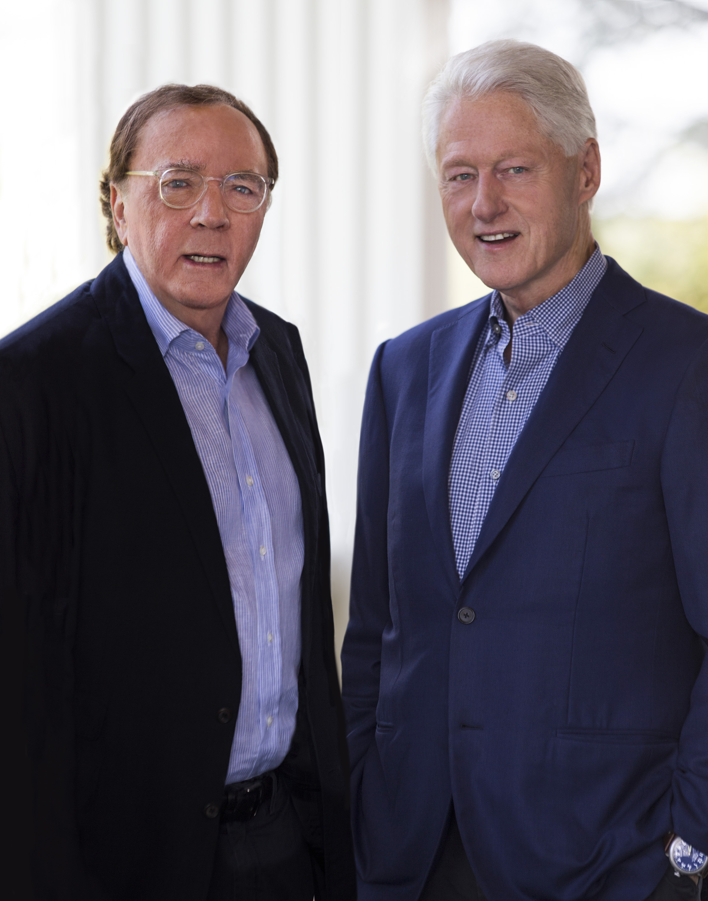 Author James Patterson and former President Bill Clinton