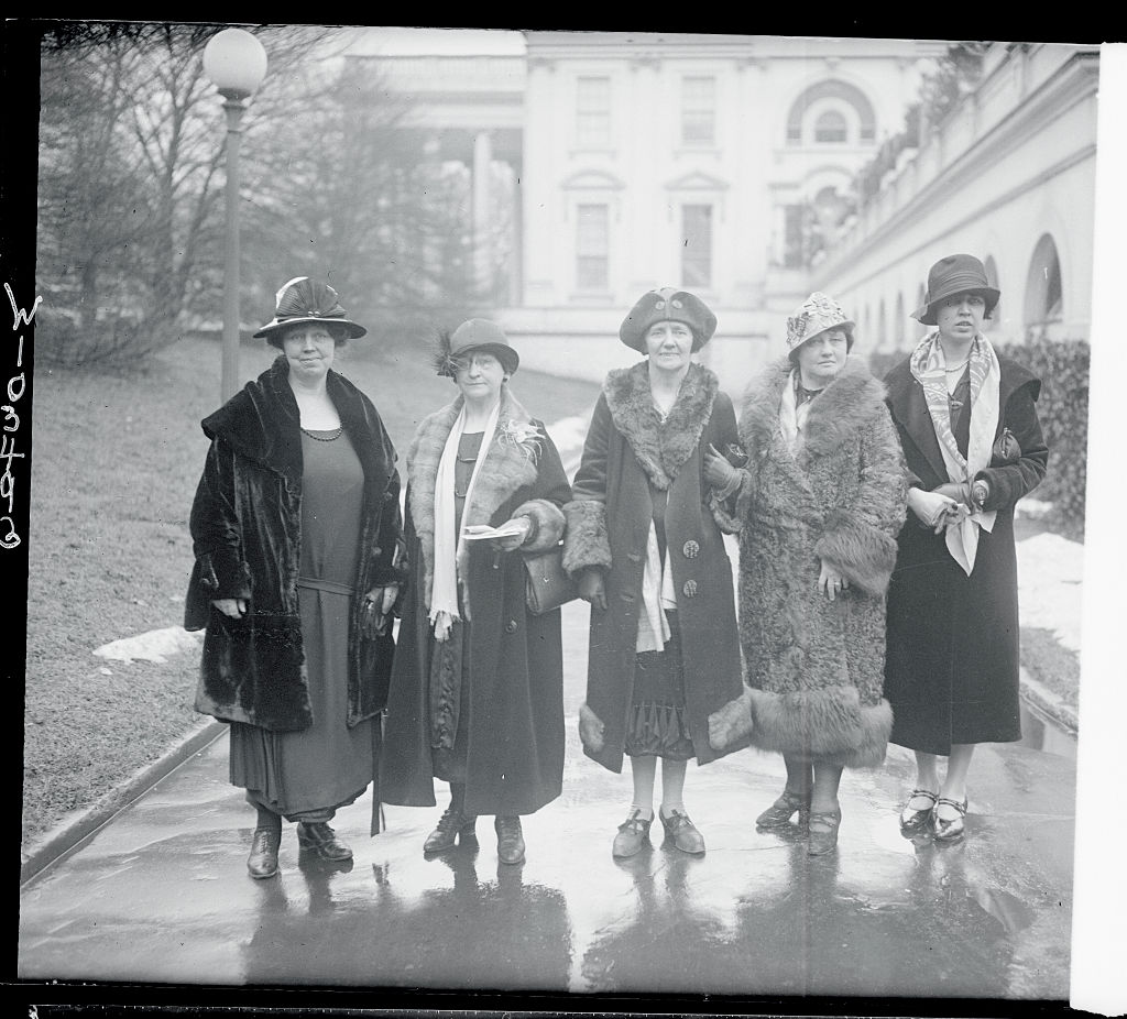 Women petitioning President Coolidge for immediate passage of the Equal Rights Amendment in 1926