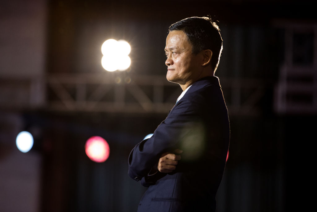 Alibaba Group Chairman Jack Ma attends the 2019 Global Conference on Women and Entrepreneurship on August 28, 2019 in Hangzhou, Zhejiang Province, China.