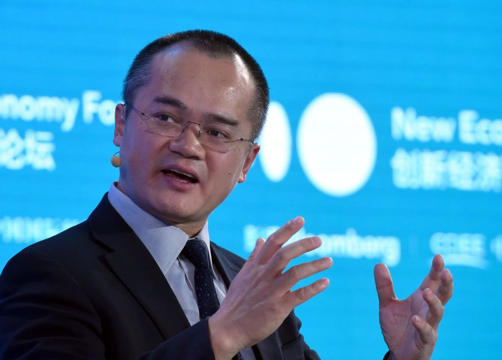 Wang Xing, Founder and CEO of Meituan.com, speaks during 2019 New Economy Forum at China Center for International Economic Exchanges (CCIEE) on November 22, 2019 in Beijing, China.