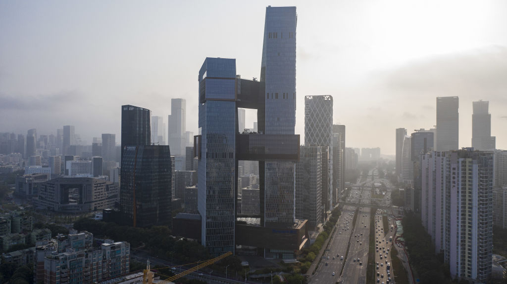 The Tencent Holdings Ltd. headquarters, center, in Shenzhen, China, on Saturday, March 20, 2021.