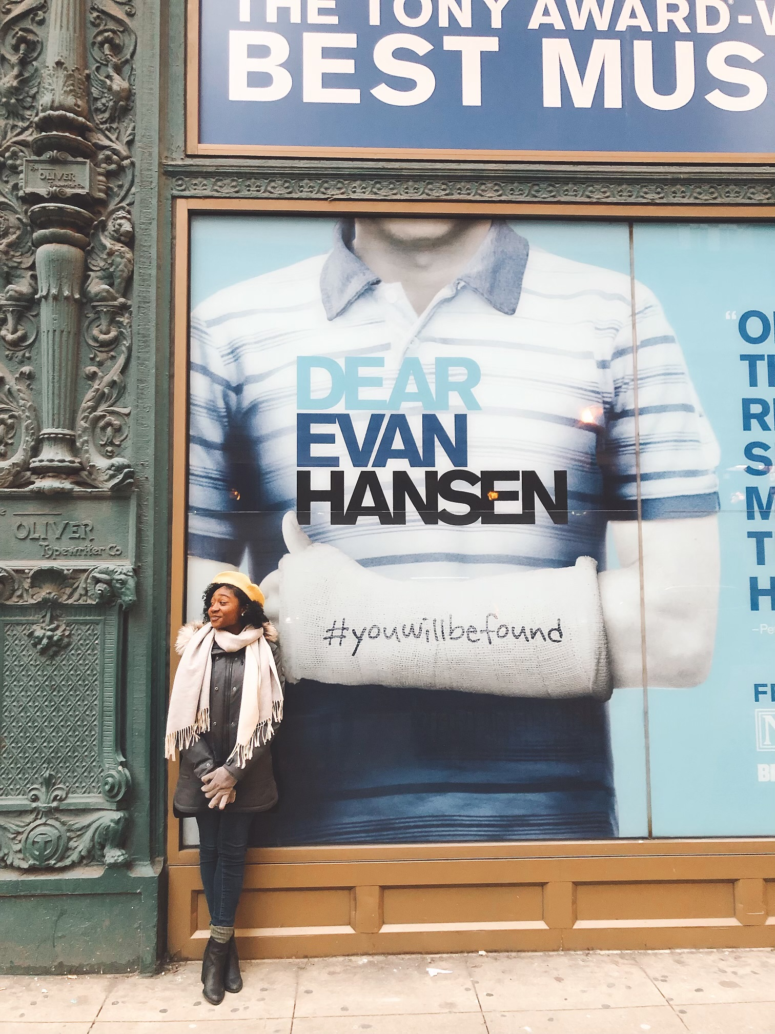 Ciara Elyse Harris on tour with Dear Evan Hansen