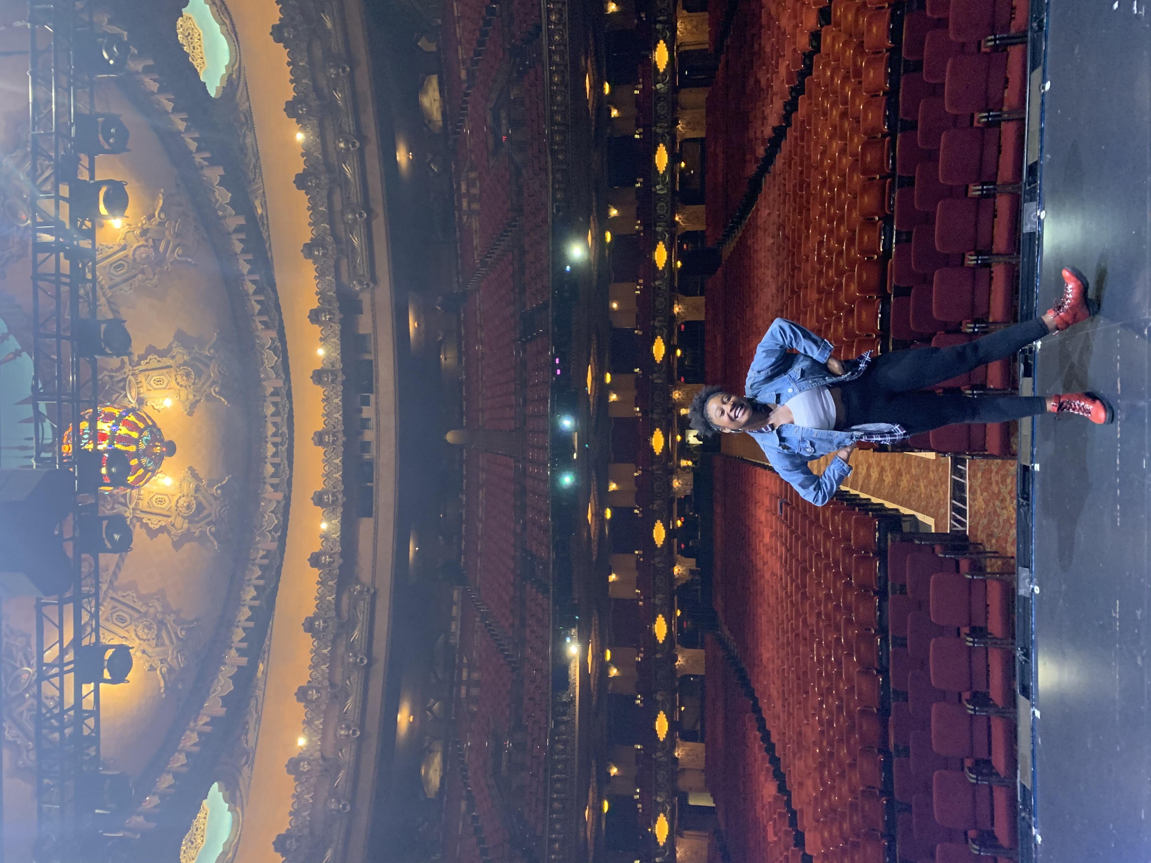Ciara Alyse Harris between performances of the hit musical, Dear Evan Hansen