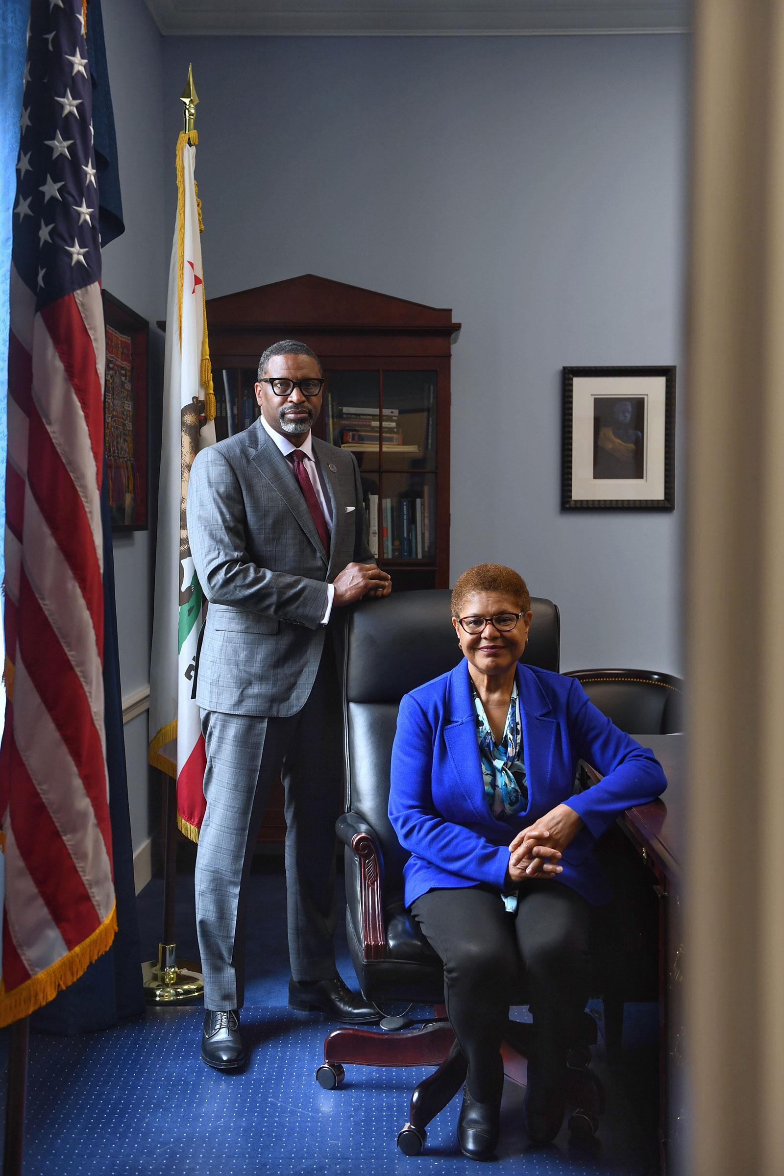NAACP President Derrick Johnson and Representative Karen Bass