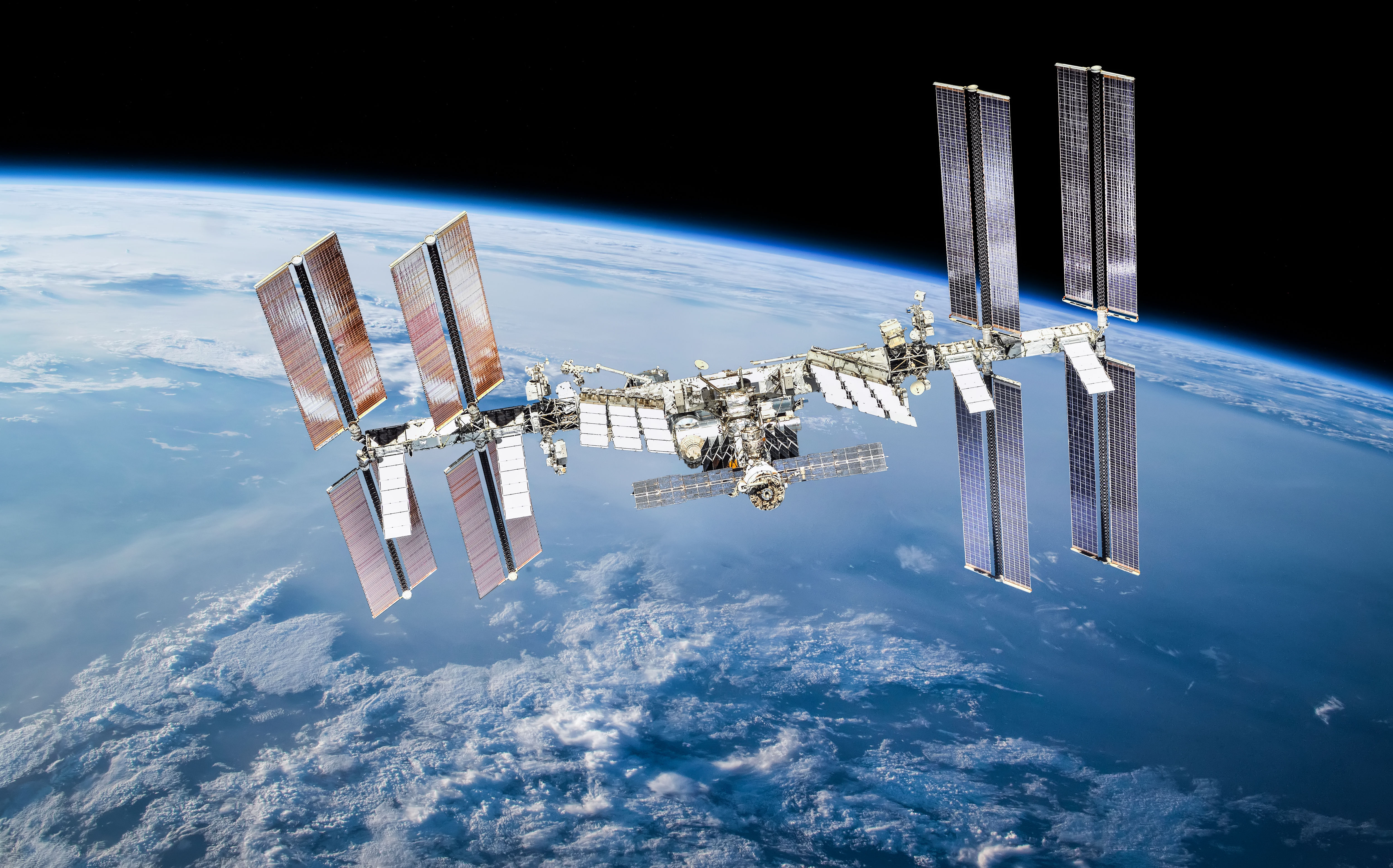 The International Space Station as it plies its rarefied orbit