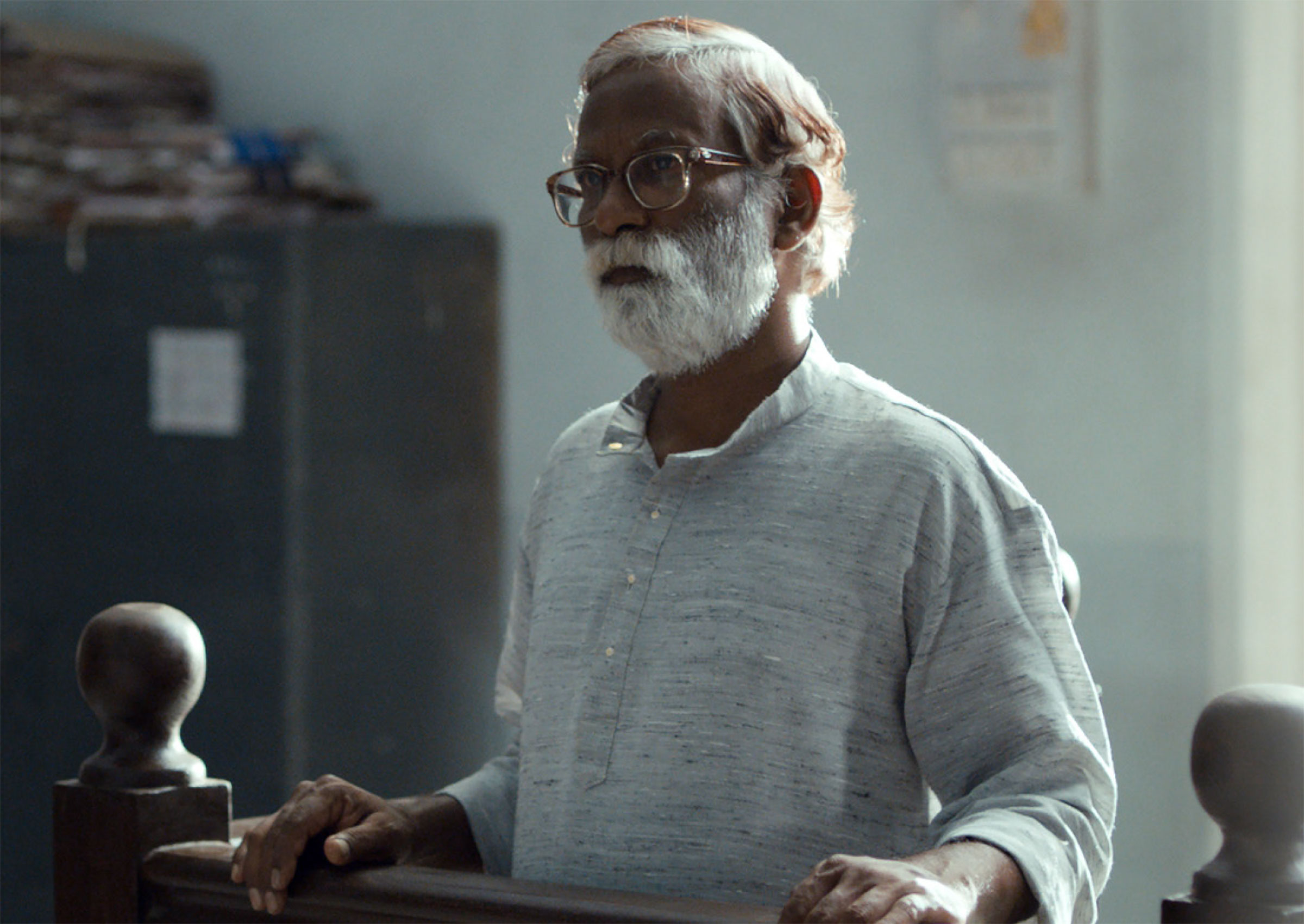 Vira Sathidar in a still from Chaitanya Tamhane's film Court