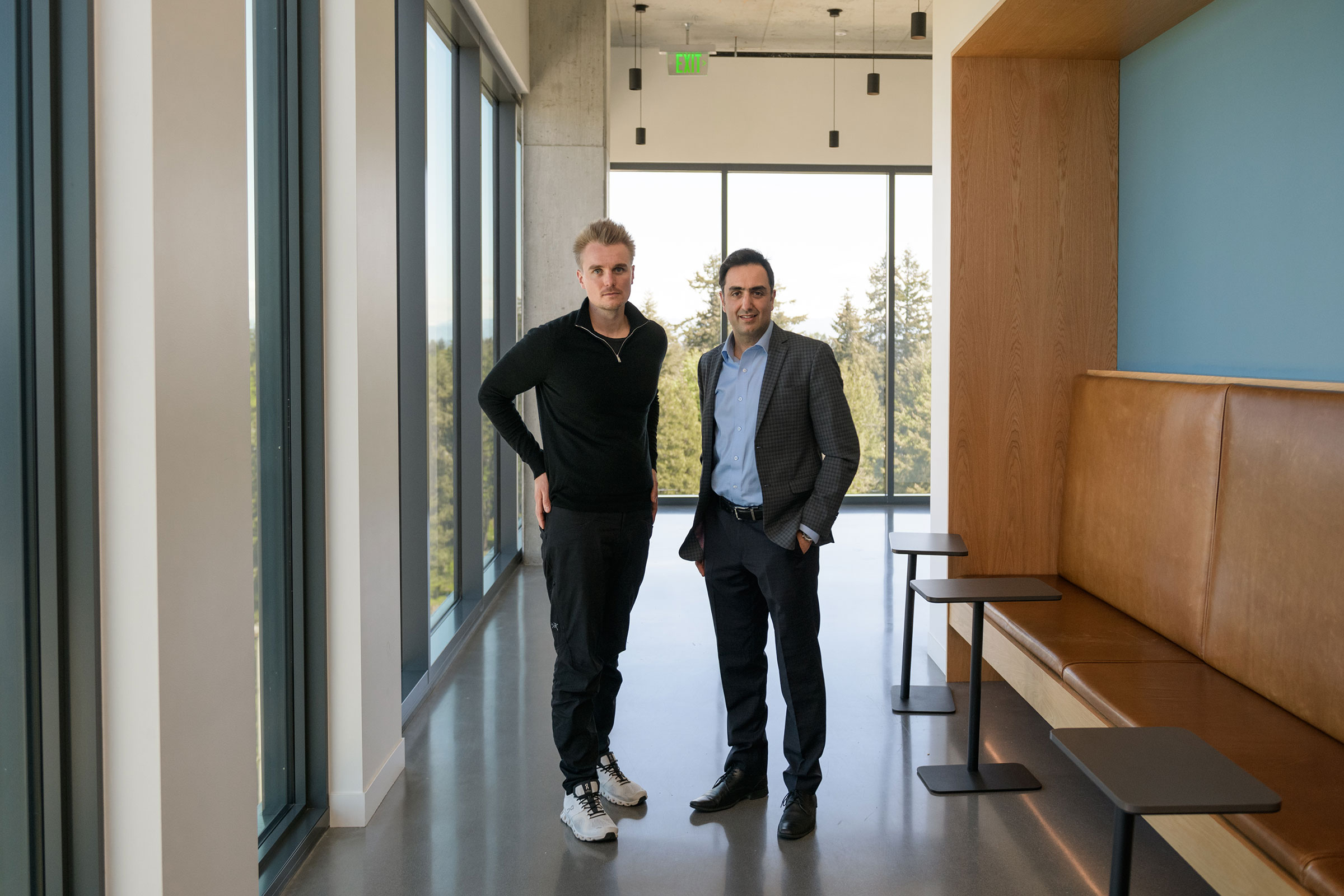Phillip Buckendorf, Airspace Intelligence CEO and co-founder and Pasha Saleh, Alaska Airlines flight operations strategy and innovation director.