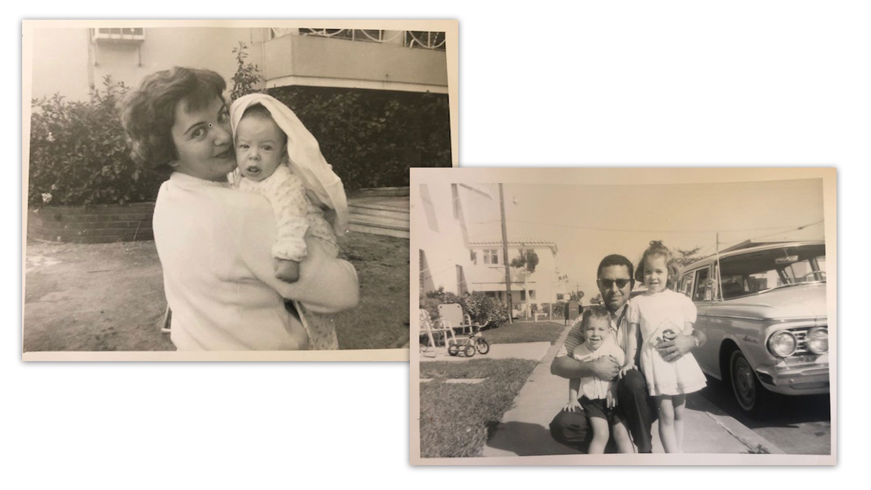 Mayorkas with his mother, Anita, in Havana, Cuba, and later with his father, Charles, and sister, Cathy, in Miami after the family moved to the U.S.