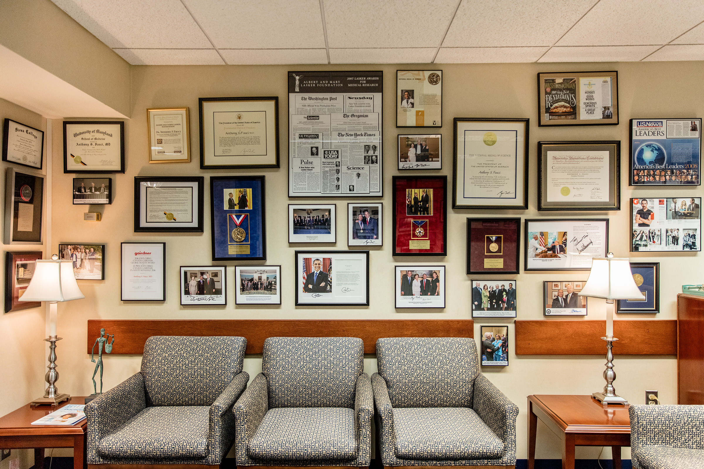 Fauci's office at the National Institutes of Health in Bethesda, Md., on Sept. 10, 2020.