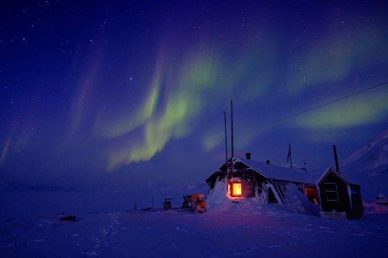 Northern Lights over Bamsebu, Jan. 2020